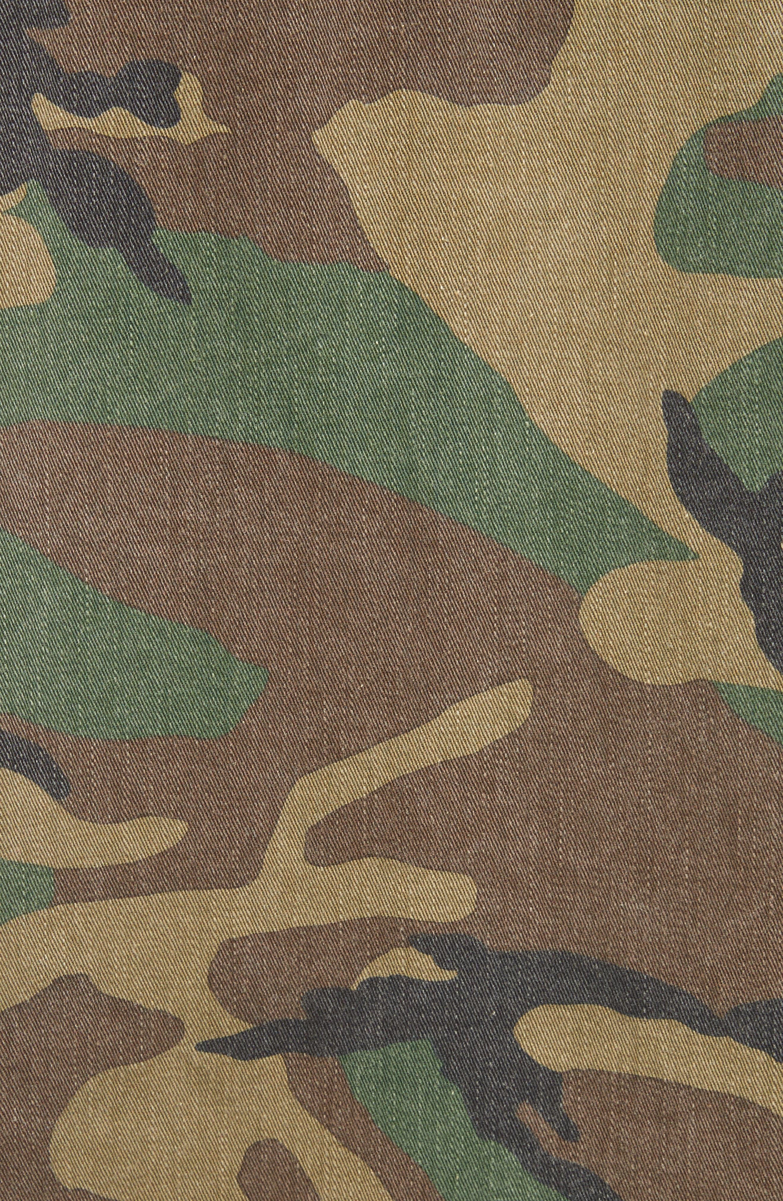 Studded Camouflage Jacket,                             Alternate thumbnail 5, color,                             Khaki