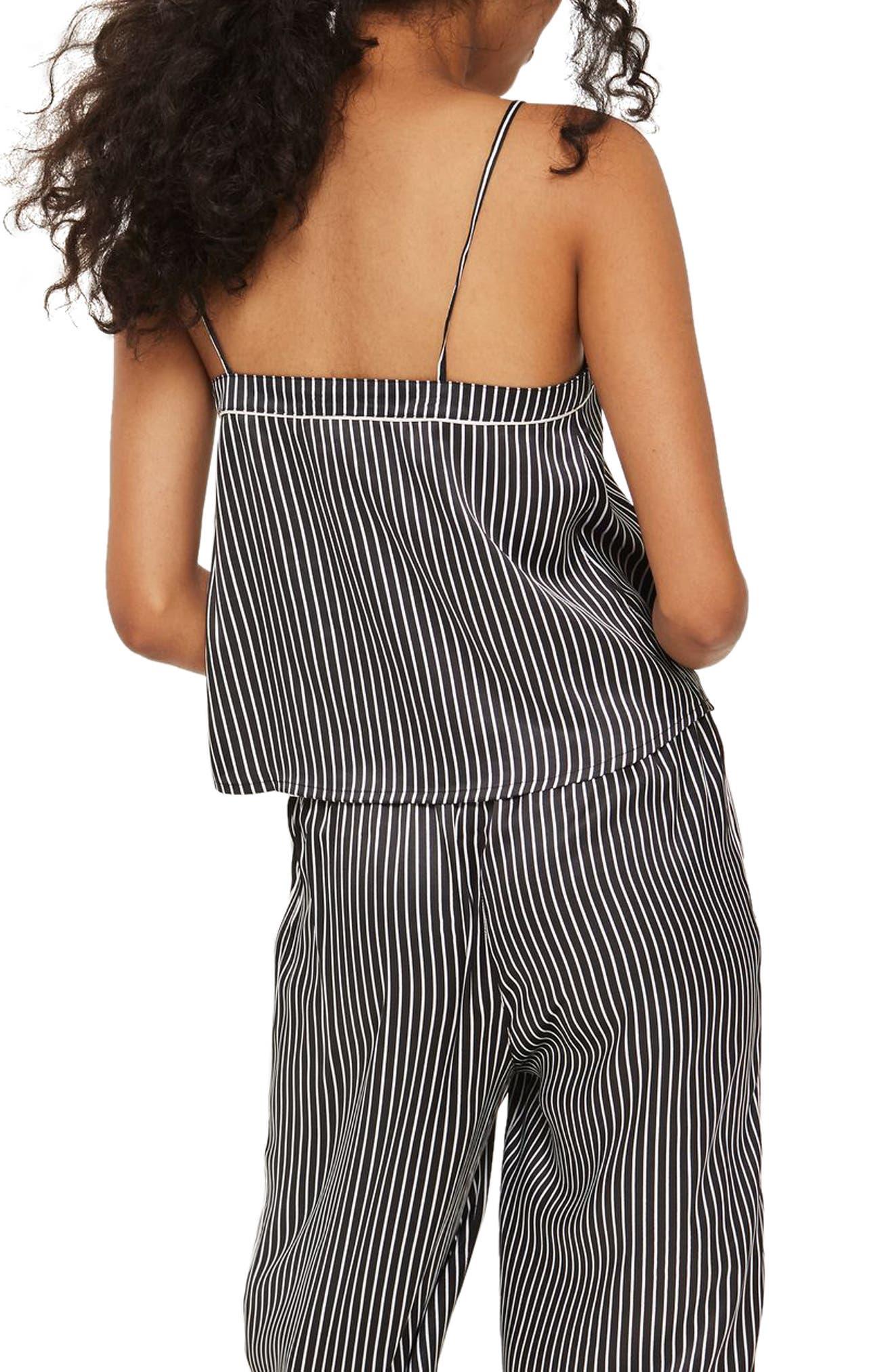 Alternate Image 2  - Topshop Stripe Satin Camisole Pajama Top