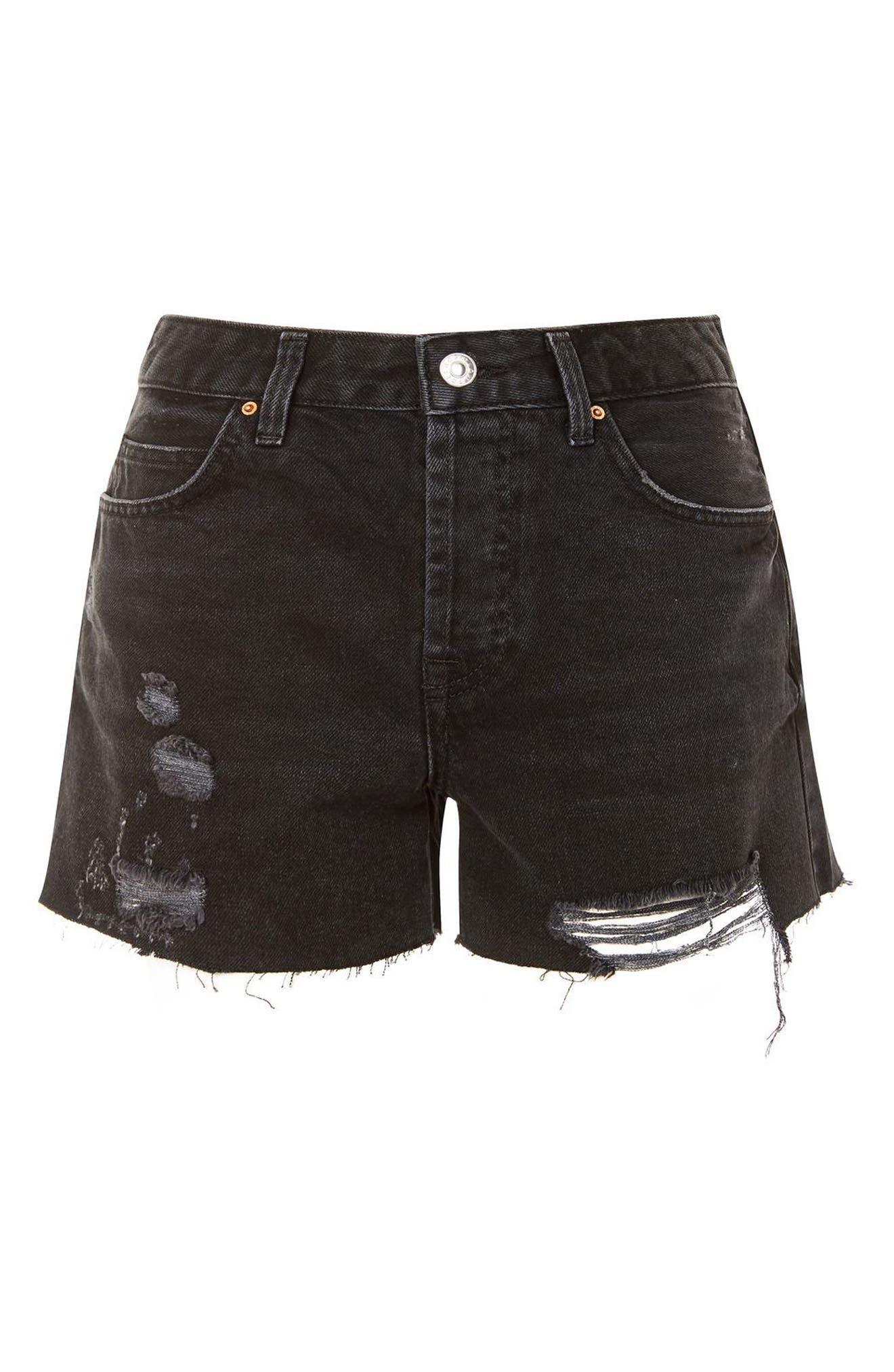 Alternate Image 4  - Topshop Ashley Ripped Denim Boyfriend Shorts