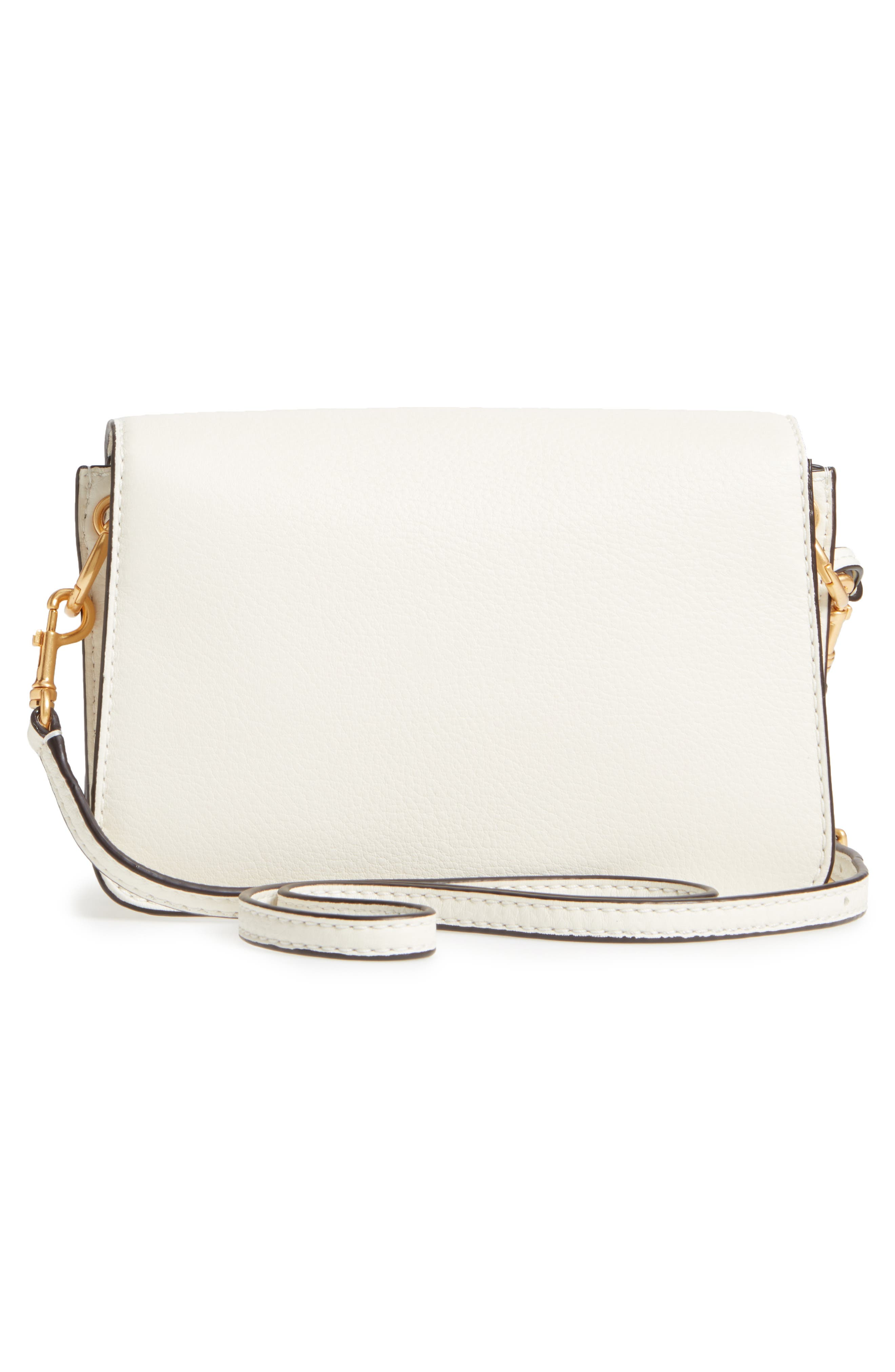 McGraw Whipstitch Leather Crossbody Bag,                             Alternate thumbnail 3, color,                             New Ivory