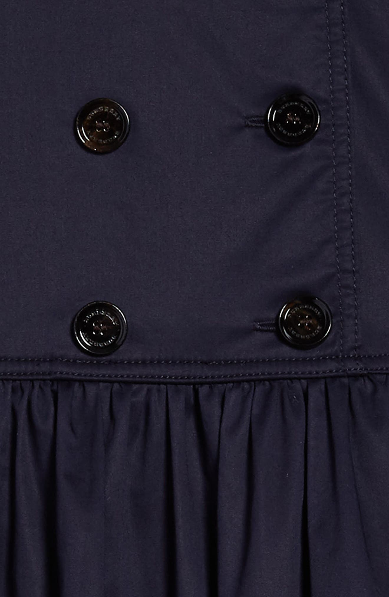 Lillyana Trench Dress,                             Alternate thumbnail 3, color,                             Midnight Blue