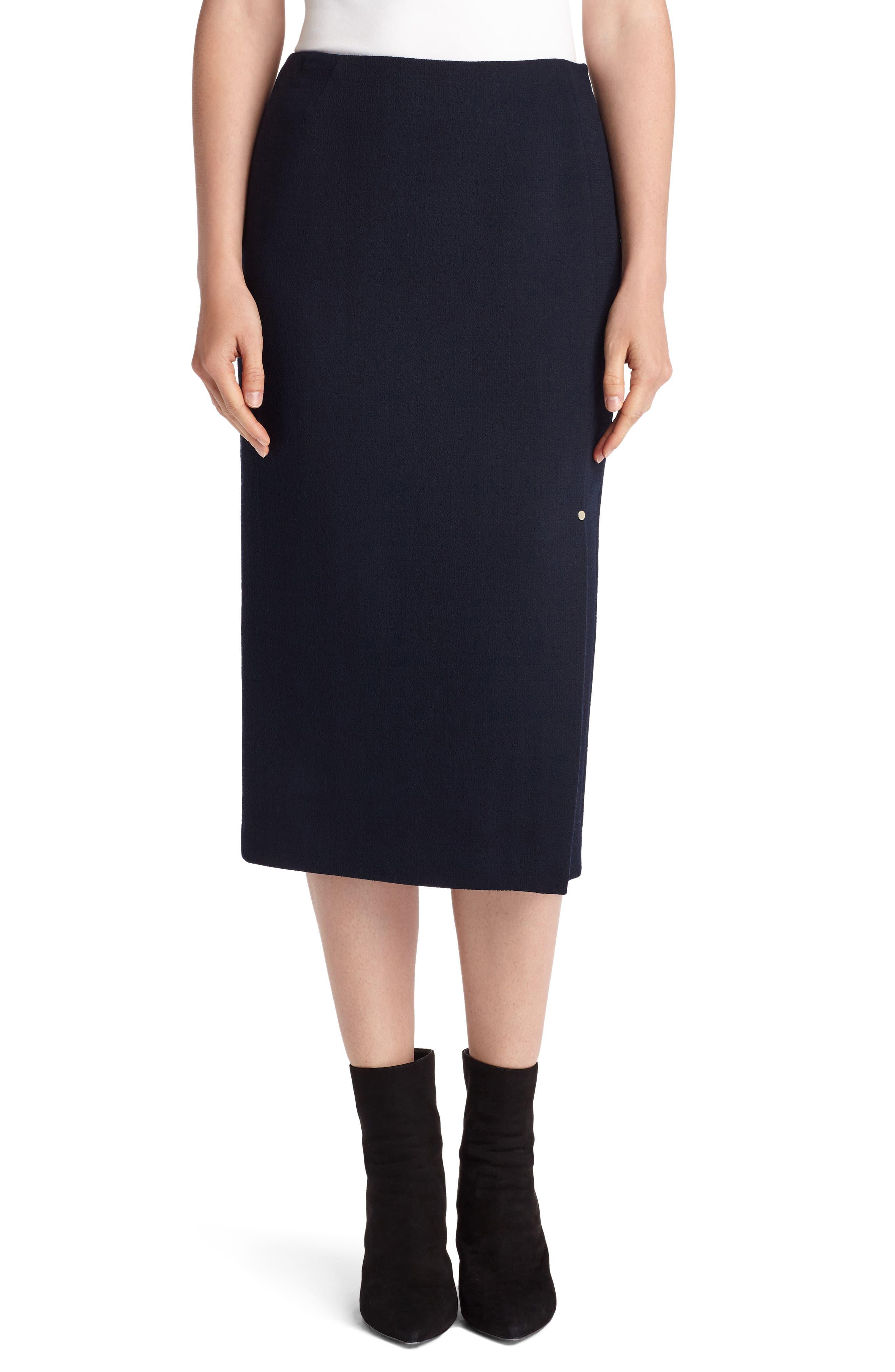 Lucina Nouveau Crepe Skirt,                             Main thumbnail 1, color,                             Ink