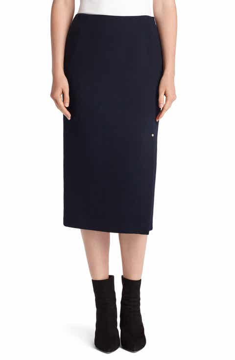 Lafayette 148 New York Lucina Nouveau Crepe Skirt