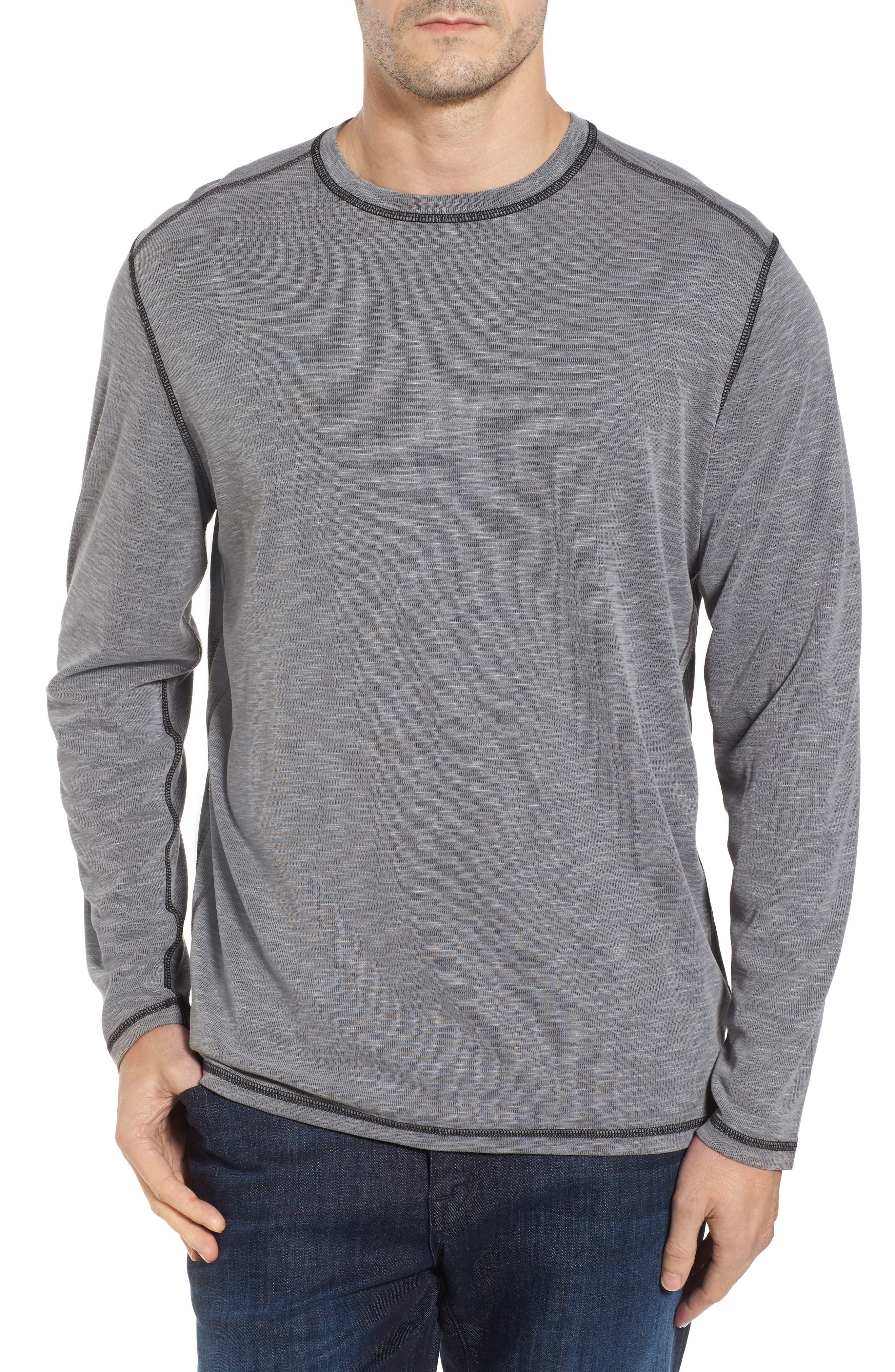 Flip Tide Long Sleeve T-Shirt,                             Main thumbnail 1, color,                             Coal