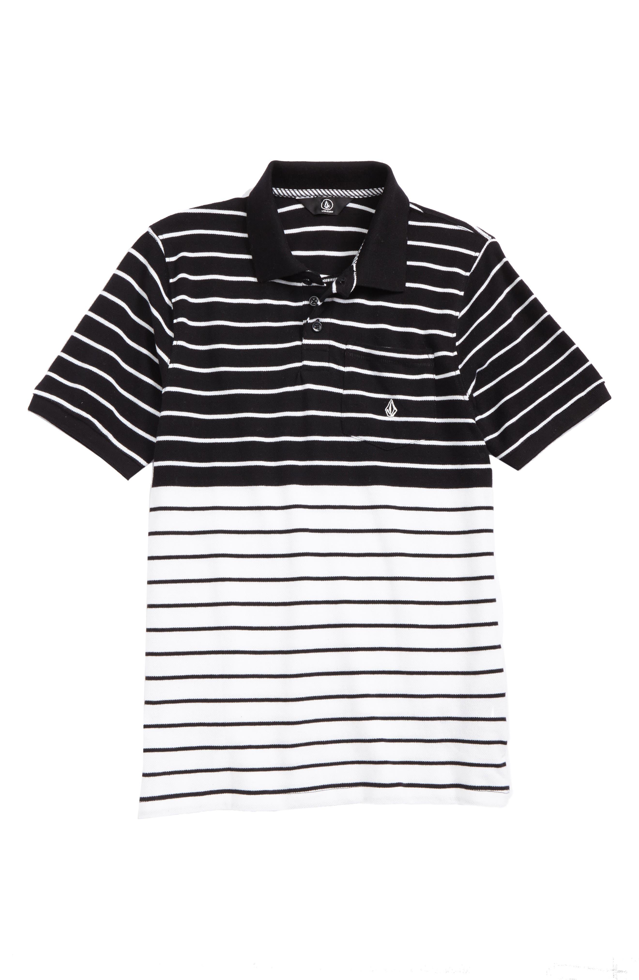 Main Image - Volcom Wowzer Stripe Polo (Big Boys)