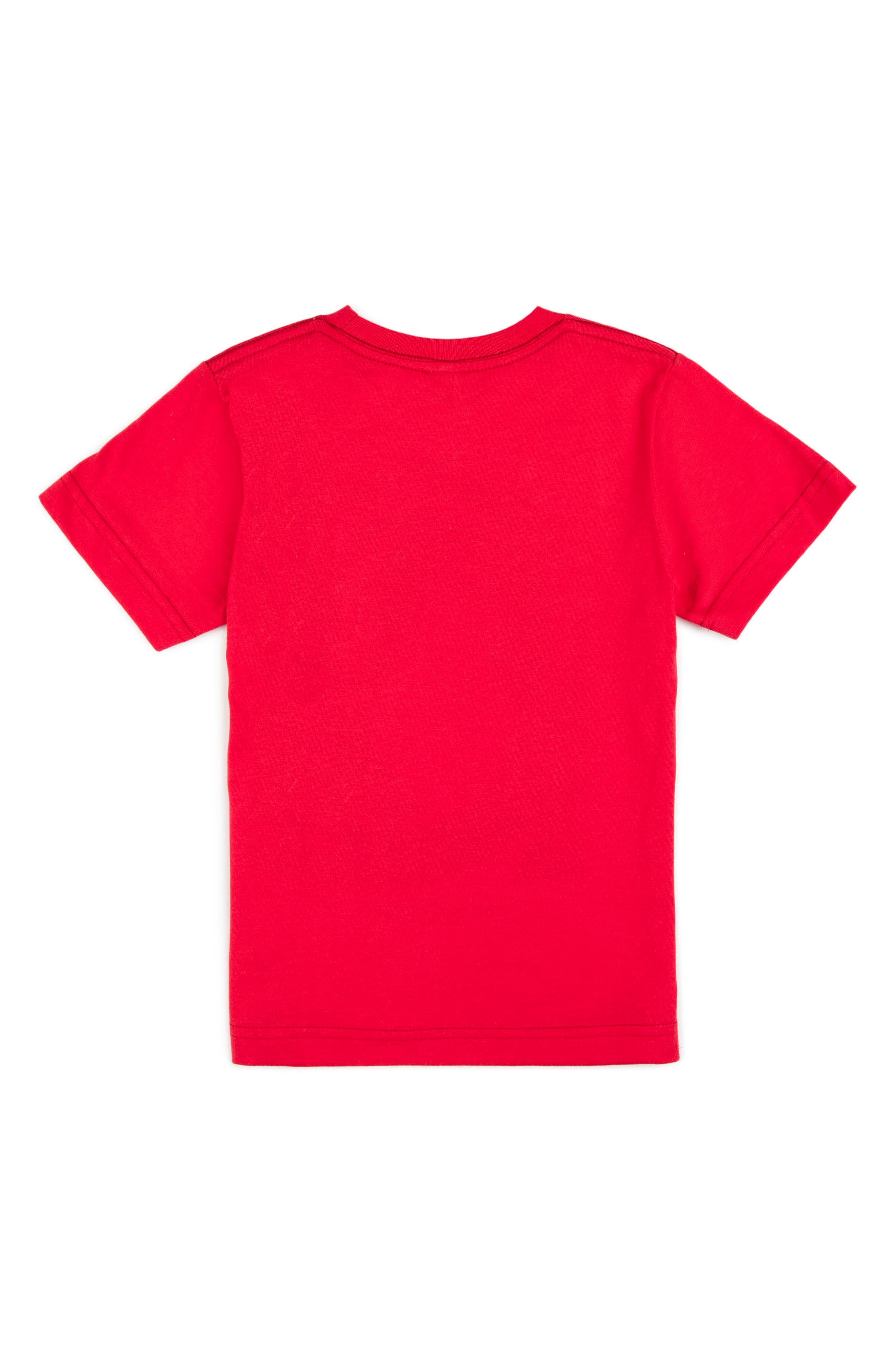 Glitch Stone Graphic T-Shirt,                             Alternate thumbnail 2, color,                             True Red