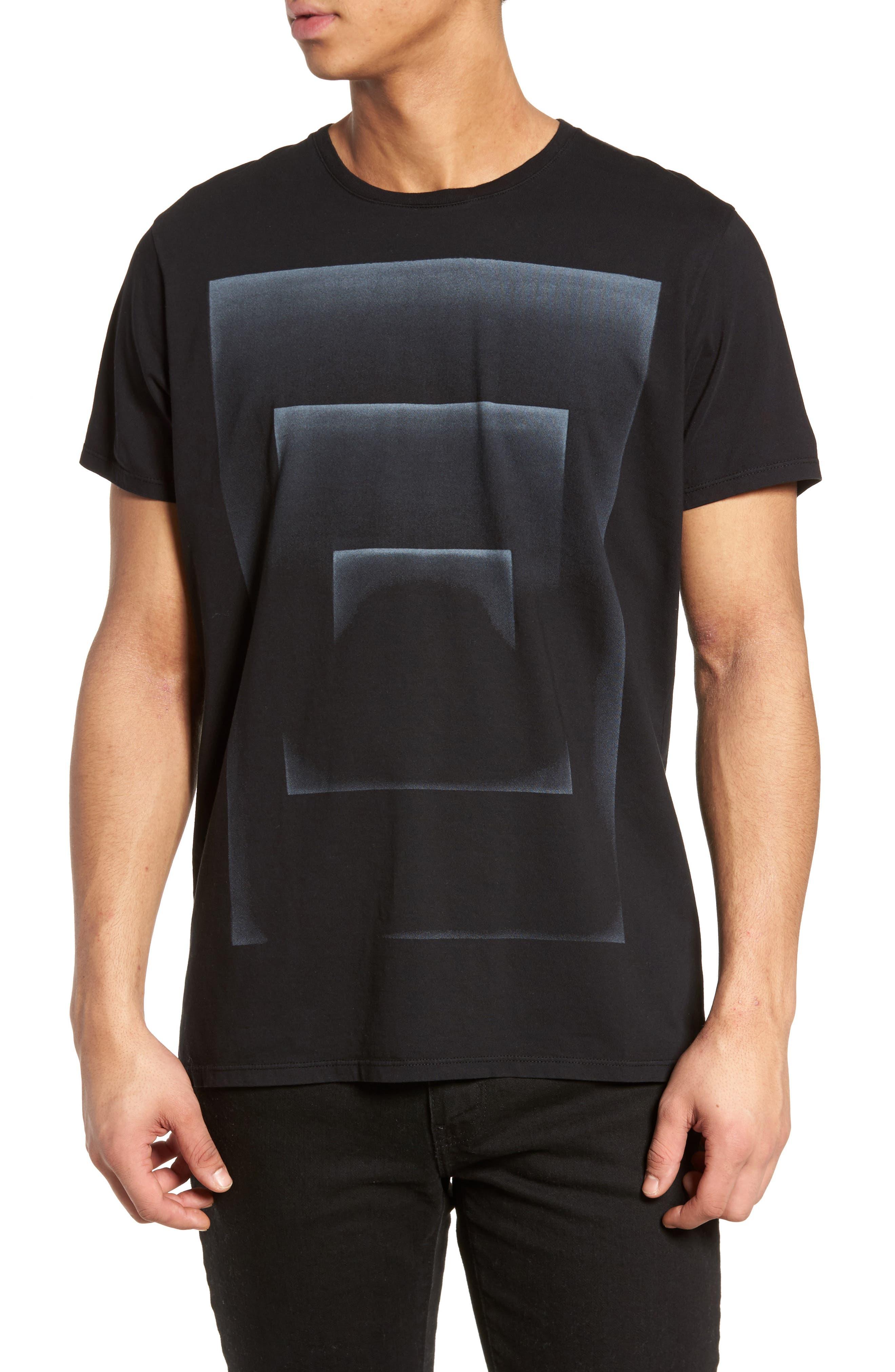 Outline Graphic T-Shirt,                         Main,                         color, Black