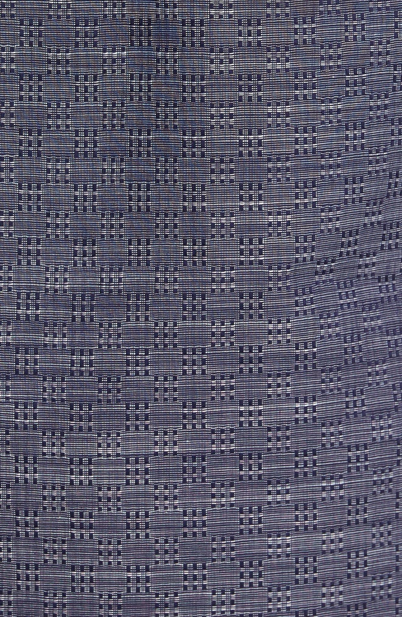 Jablon Check Sport Shirt,                             Alternate thumbnail 5, color,                             Navy