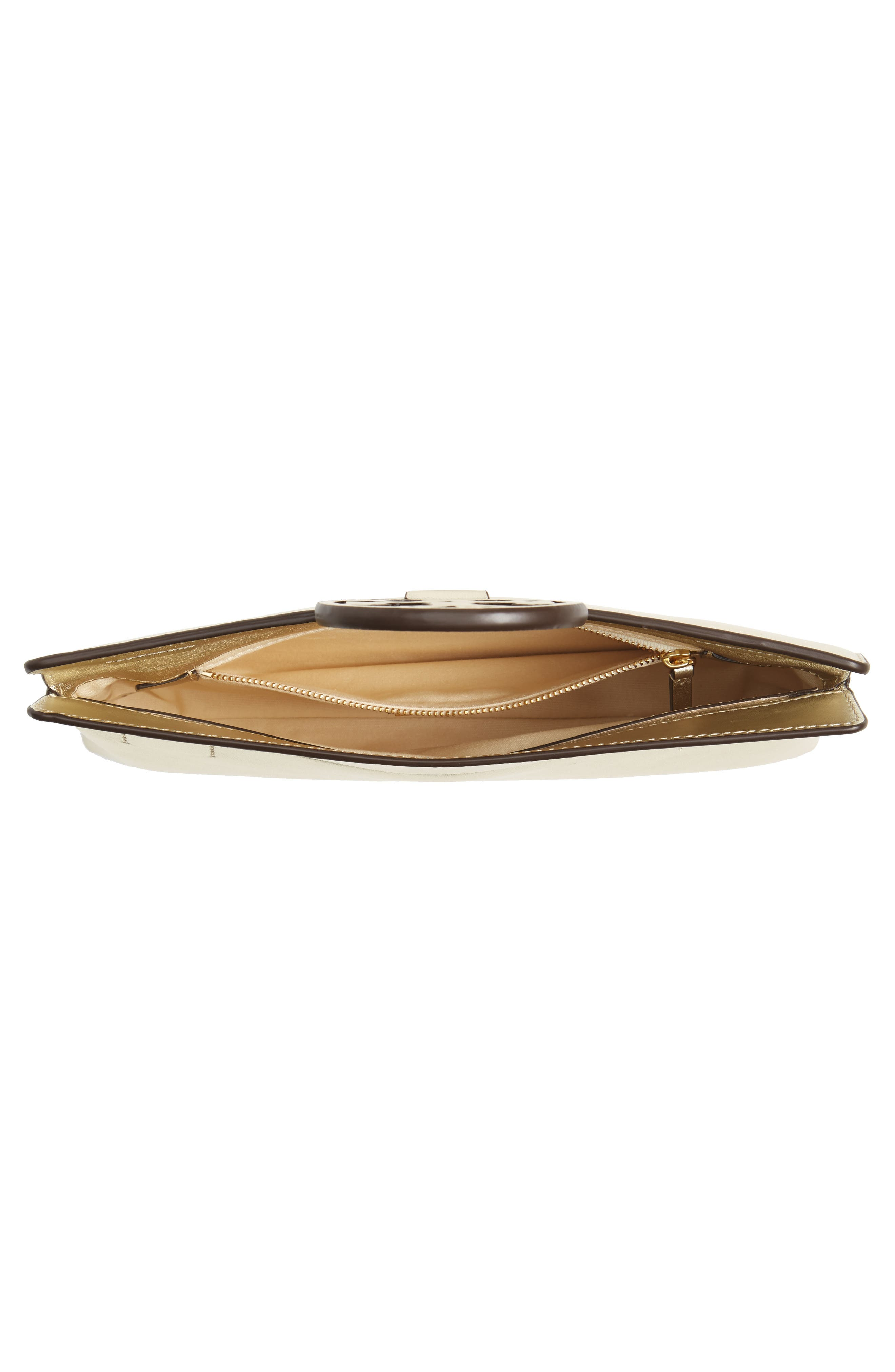 Miller Leather Clutch,                             Alternate thumbnail 4, color,                             Gold