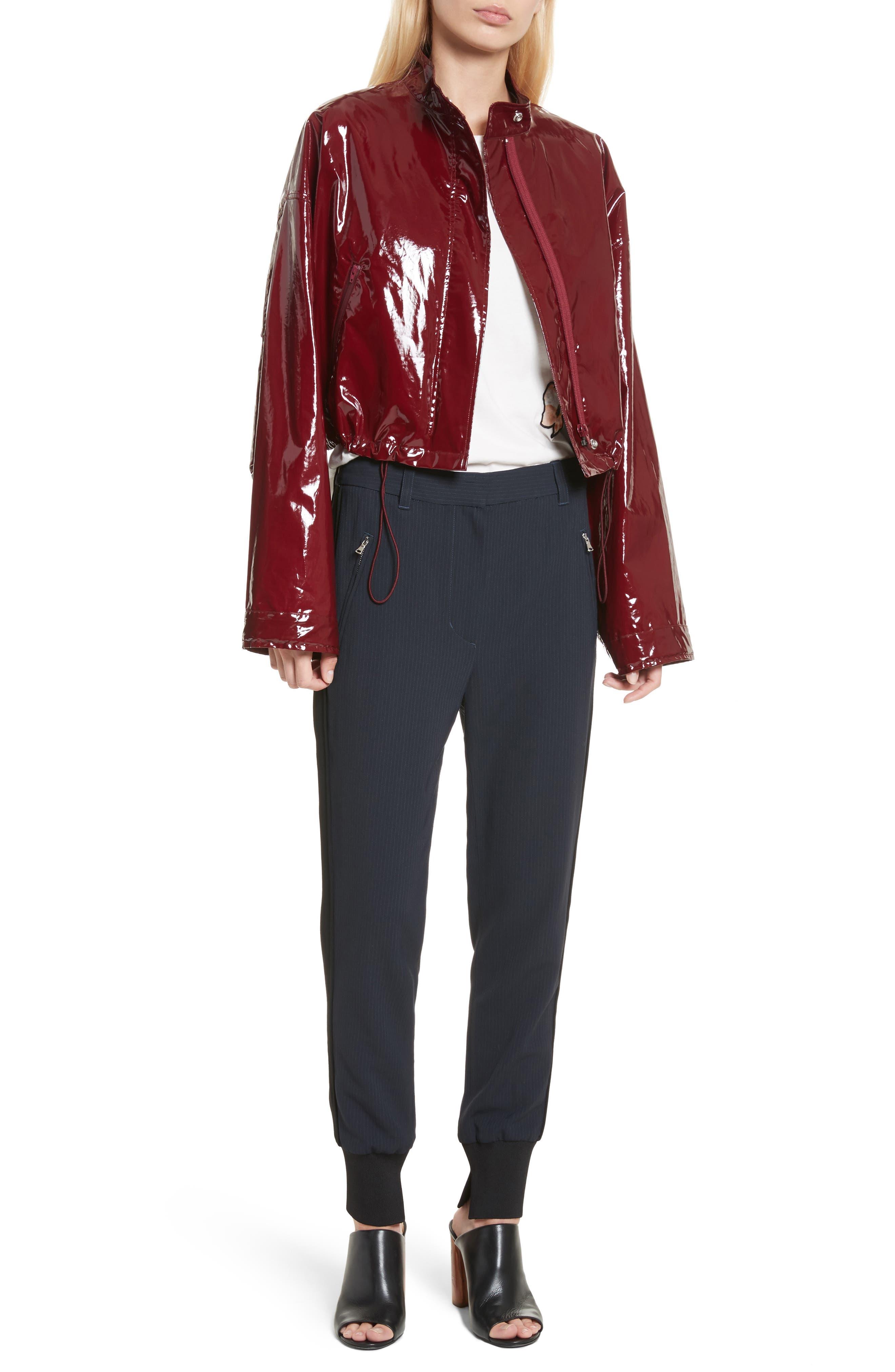 Coated Jacket,                             Alternate thumbnail 6, color,                             Burgundy