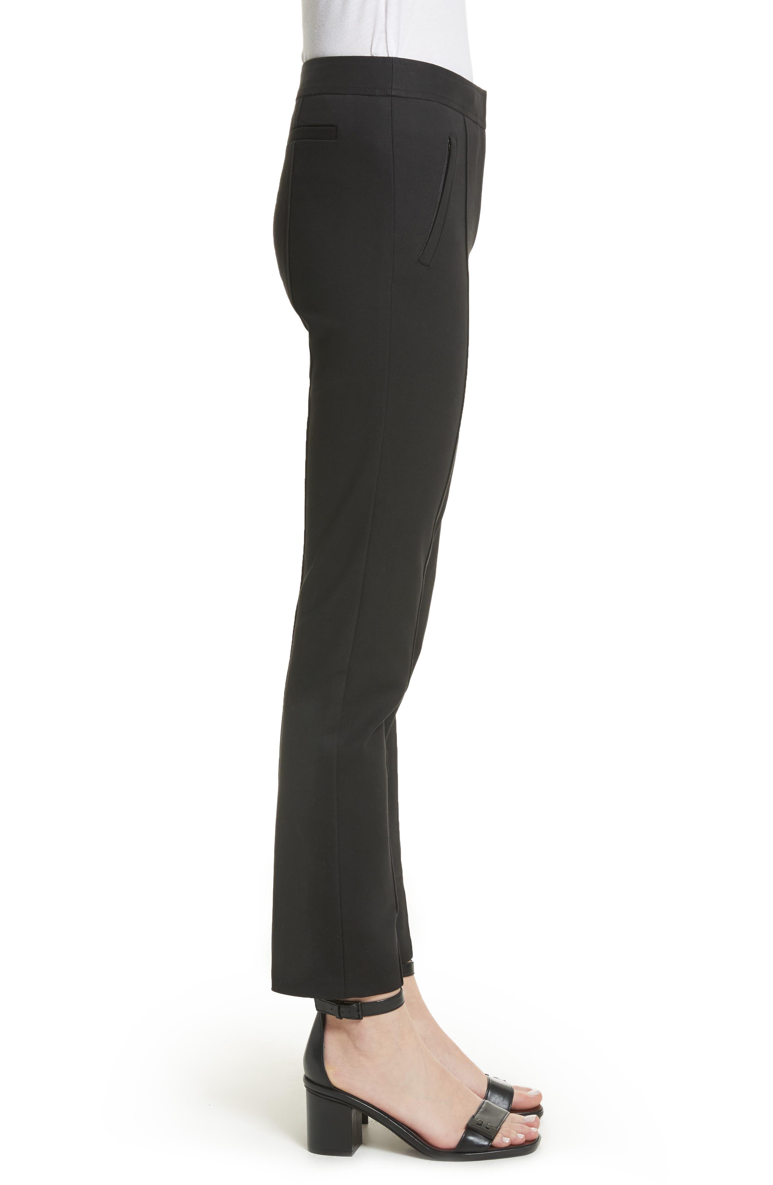 Vanner Slim Leg Ankle Pants,                             Alternate thumbnail 3, color,                             Black