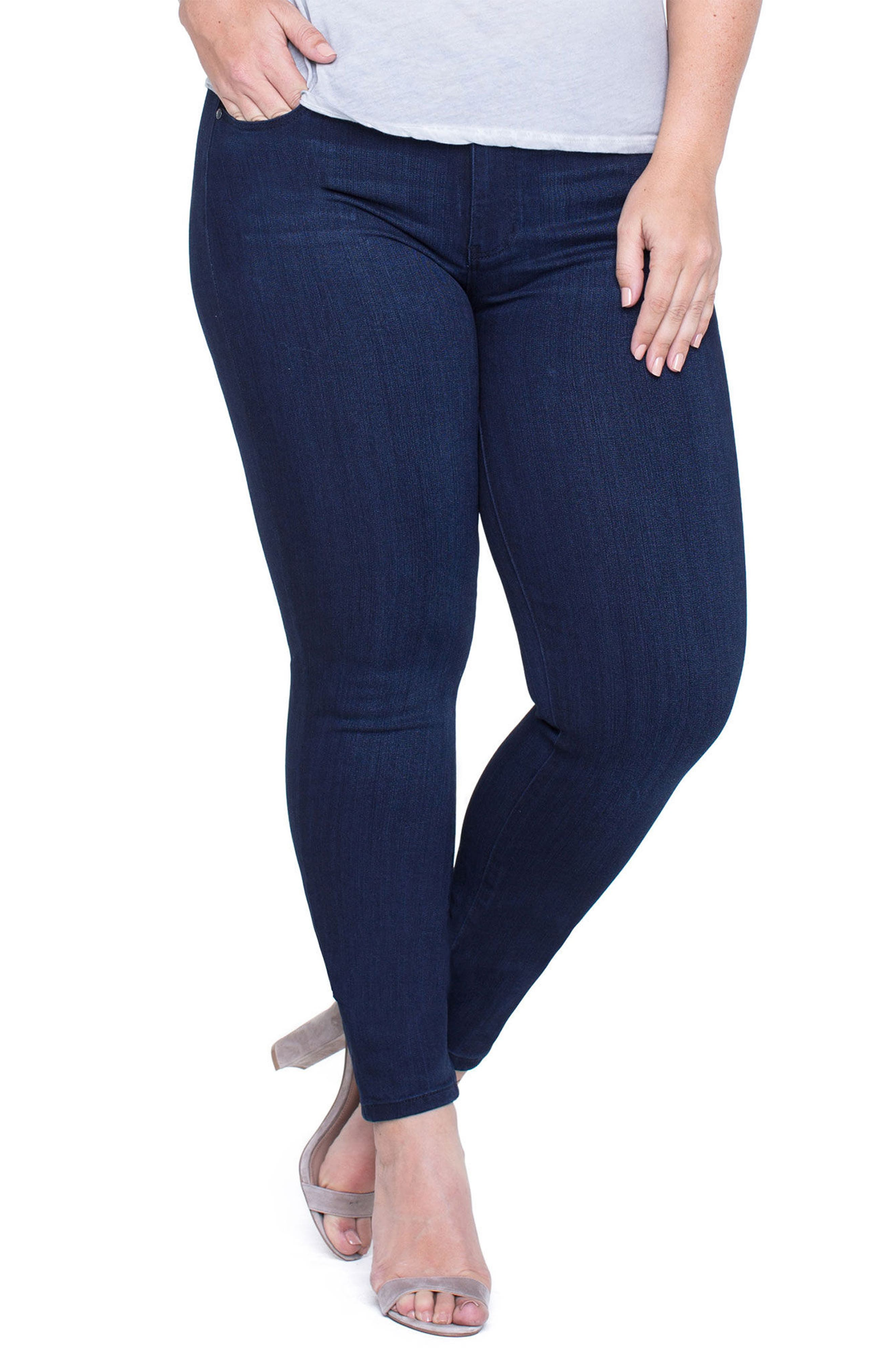 Abby Stretch Skinny Jeans,                             Main thumbnail 1, color,                             Stone Wash