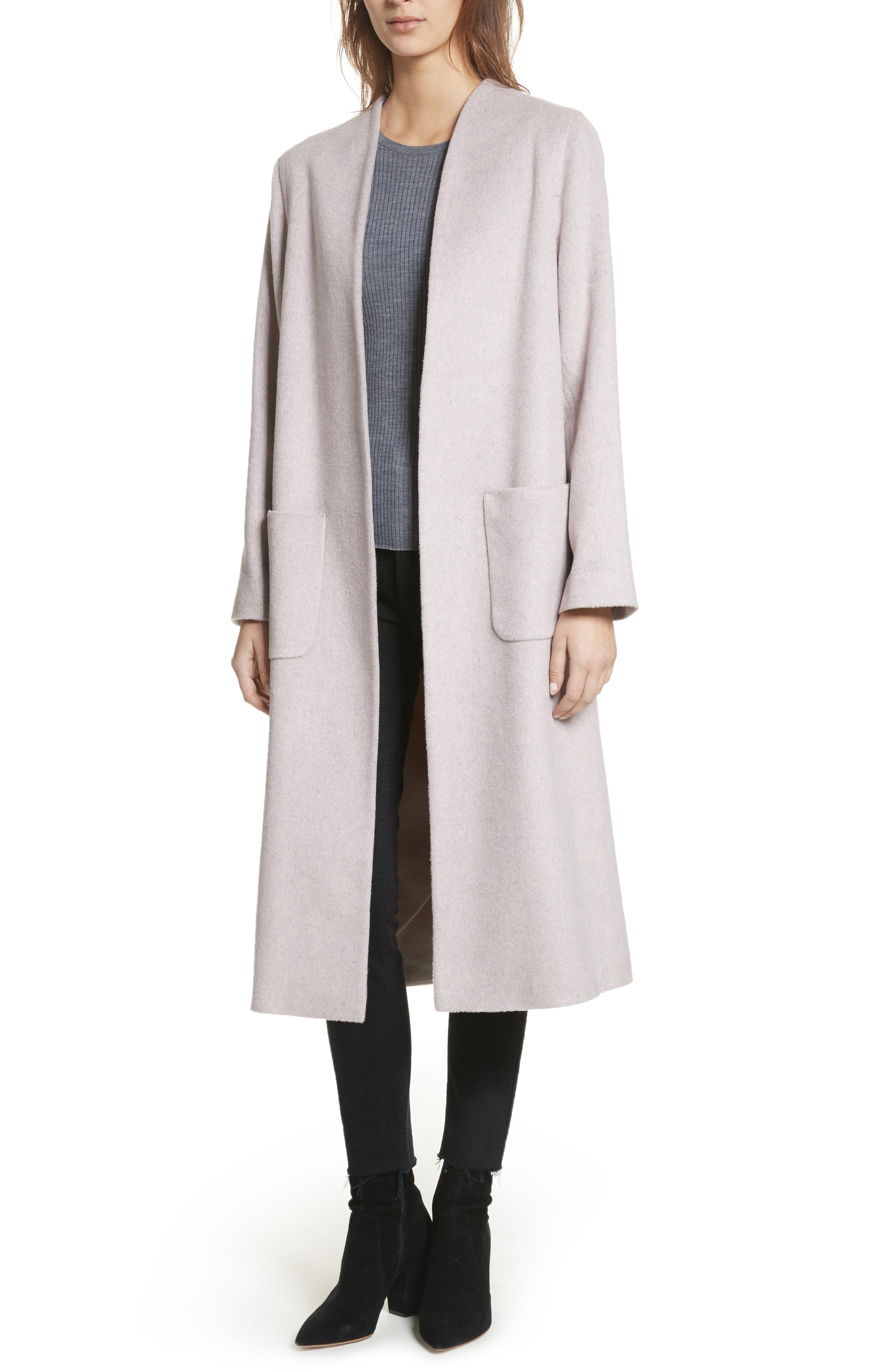 Edge to Edge Coat,                         Main,                         color, Pale Pink