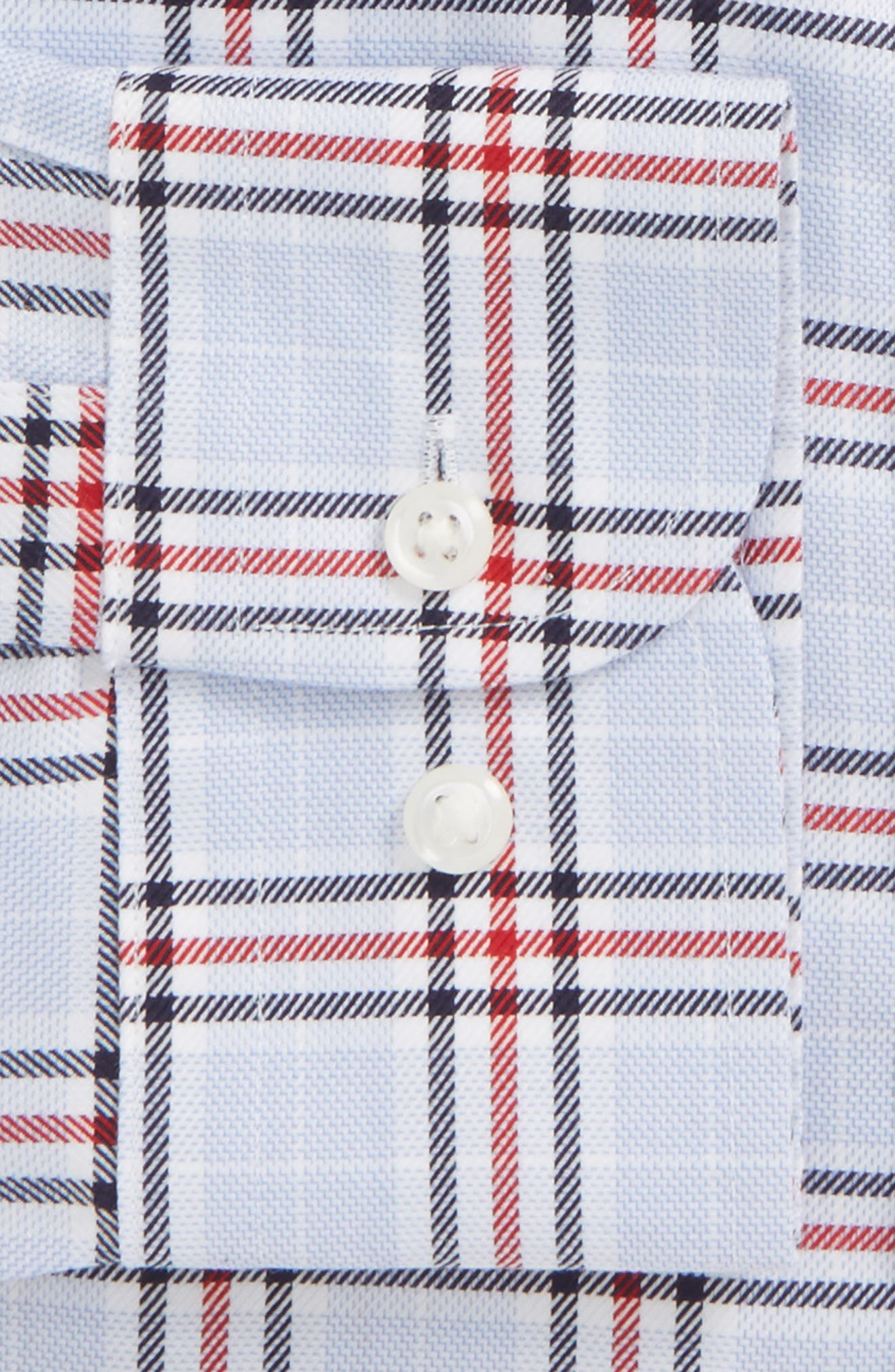 Smartcare<sup>™</sup> Classic Fit Plaid Dress Shirt,                             Alternate thumbnail 6, color,                             Red Chili