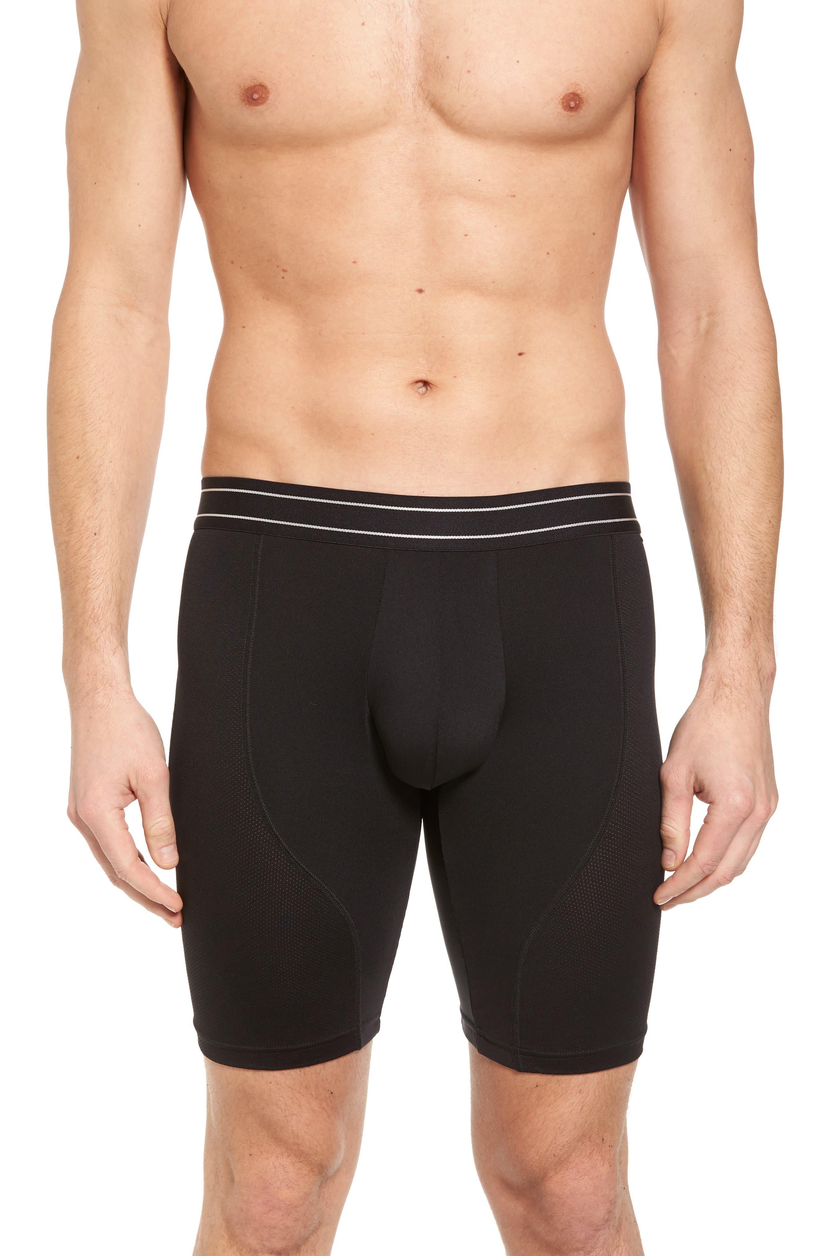 Alternate Image 1 Selected - Nordstrom Men's Shop Tech-Smart Long Leg Boxer Briefs