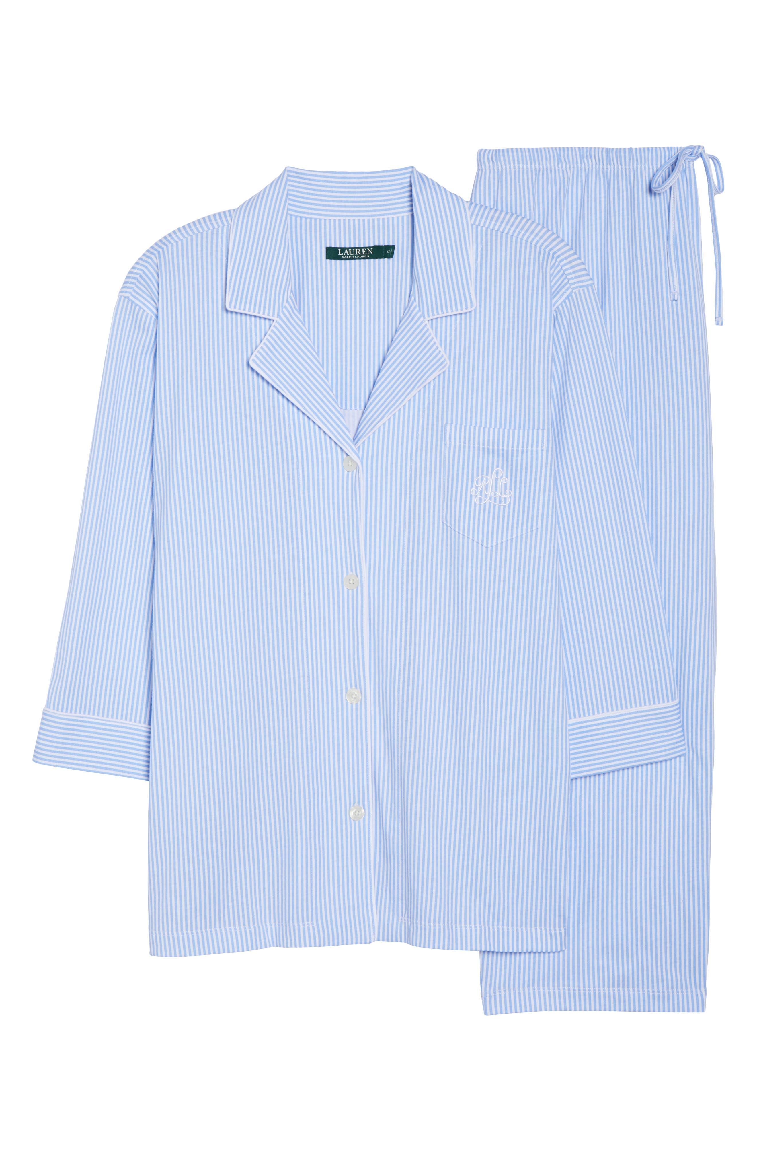 Alternate Image 4  - Lauren Ralph Lauren Bermuda Pajamas (Plus Size)