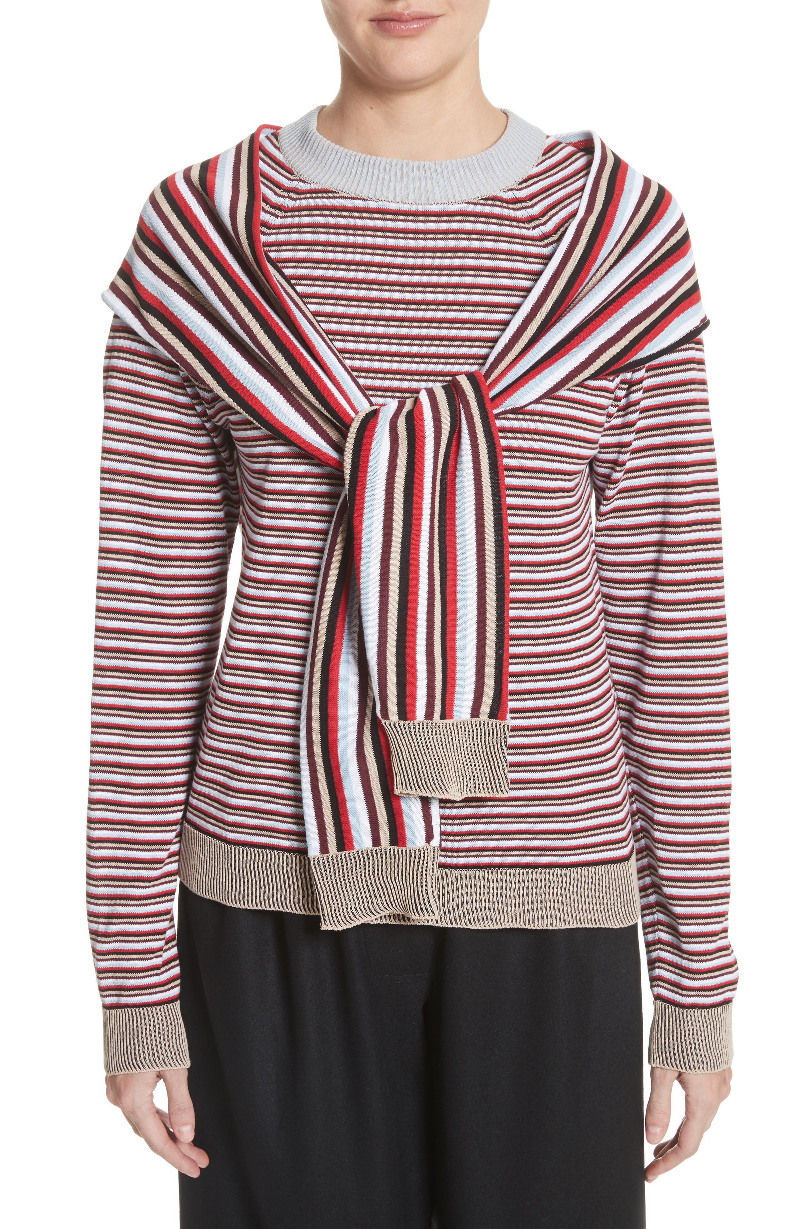 Trompe L'Oeil Sweater,                         Main,                         color, Preppy