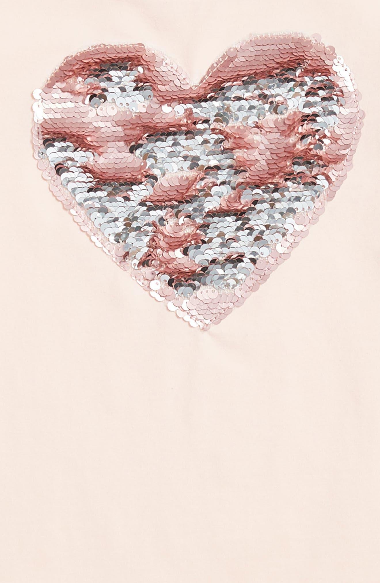 Alternate Image 2  - Truly Me Flip Sequin Heart Tee (Toddler Girls & Little Girls)