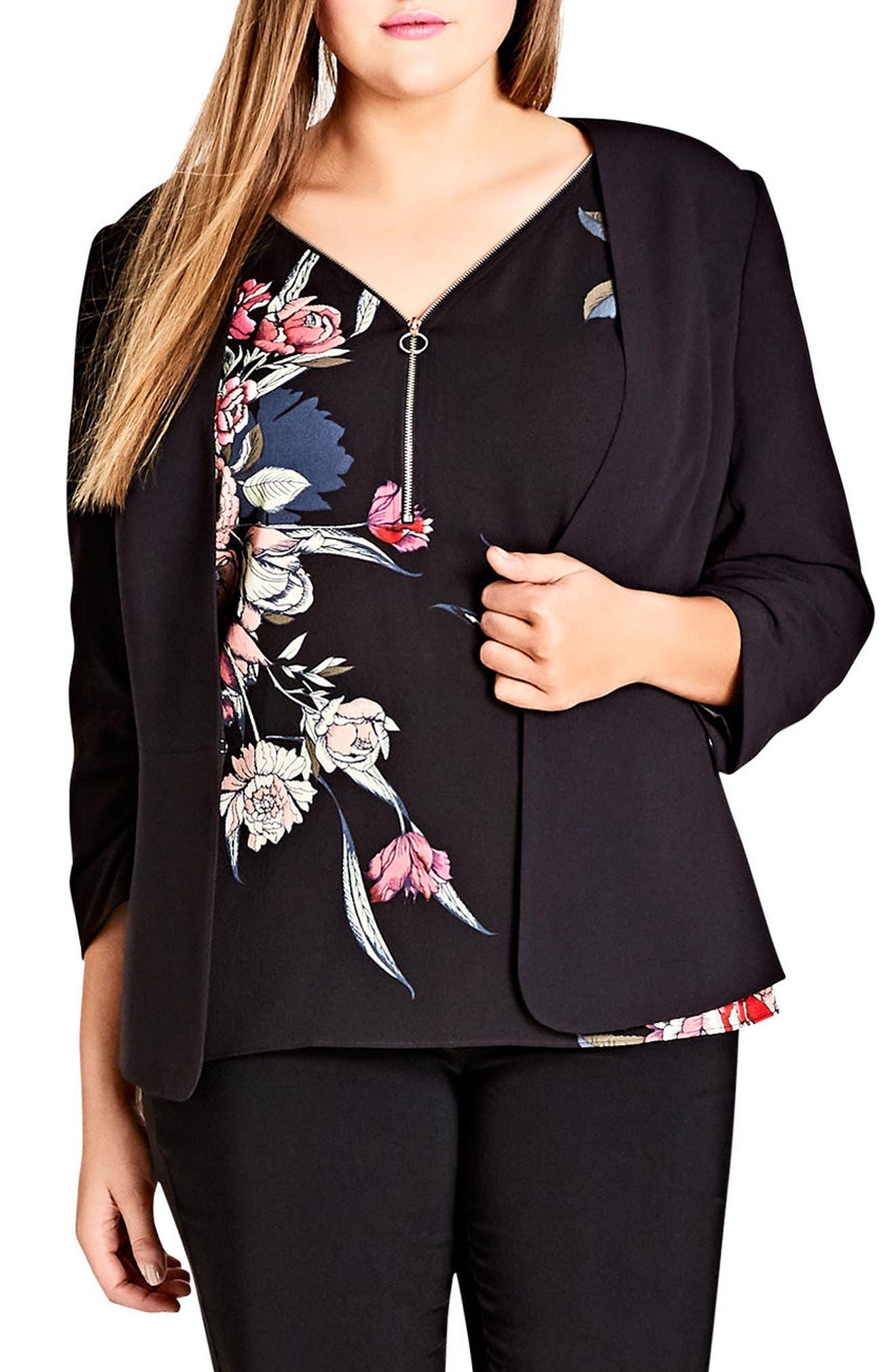 Cutie Bow Jacket,                         Main,                         color, Black