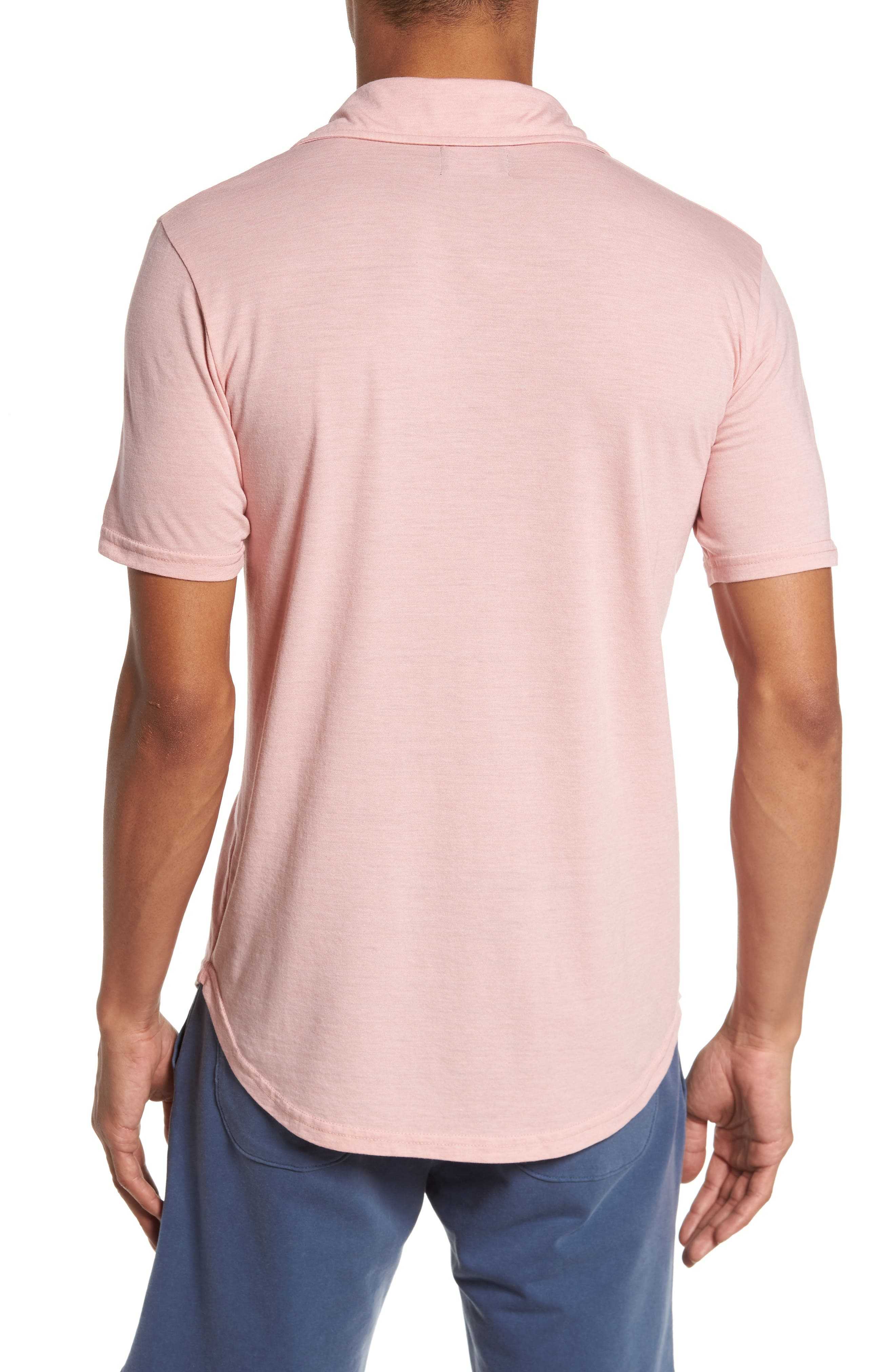 Triblend Scallop Polo,                             Alternate thumbnail 2, color,                             Rose