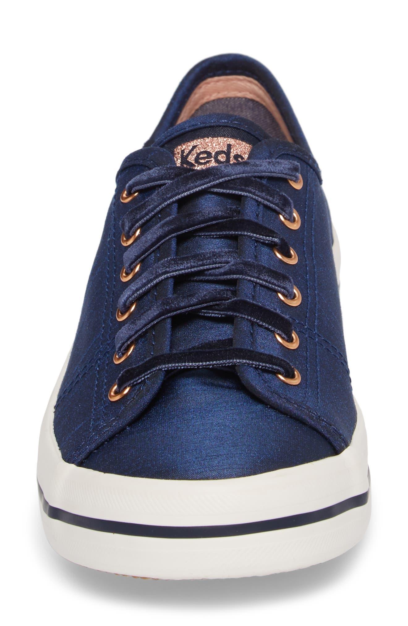 Kickstart Sneaker,                             Alternate thumbnail 4, color,                             Navy Satin