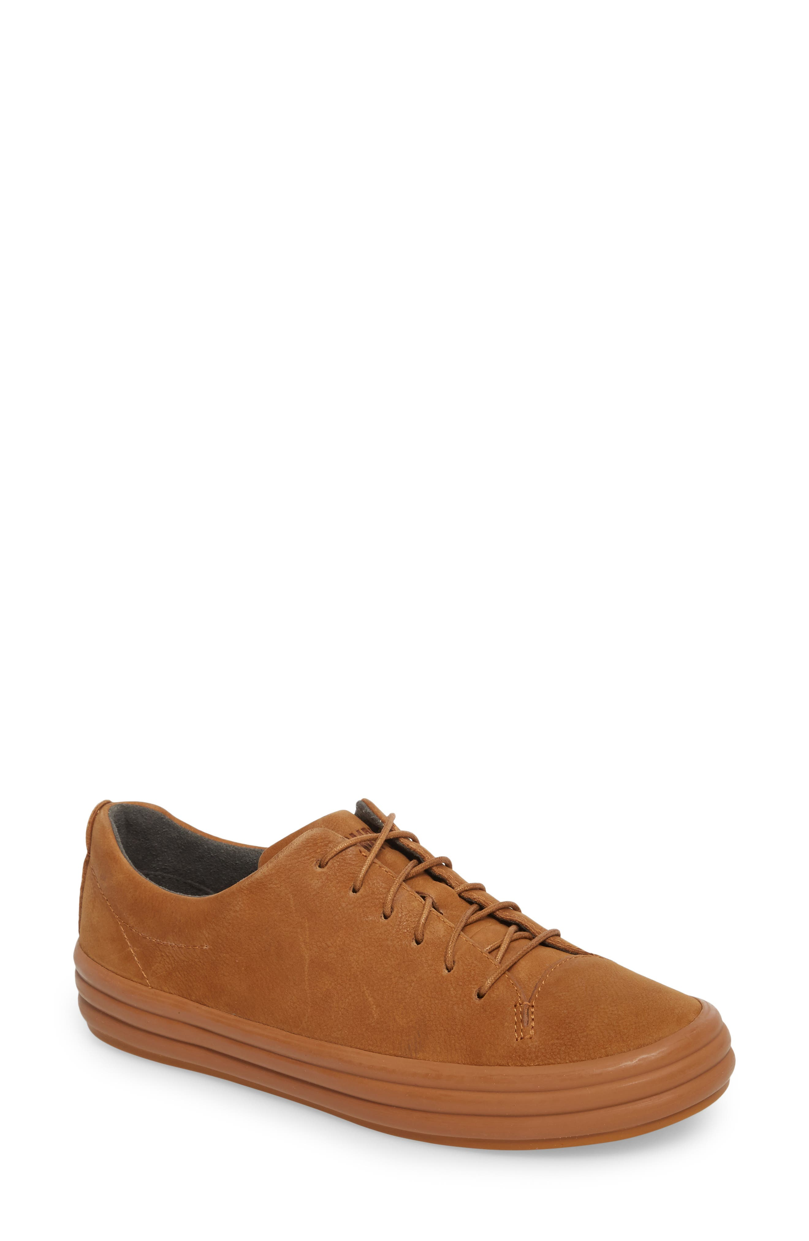 Hoops Sneaker,                         Main,                         color, Rust/ Copper Leather