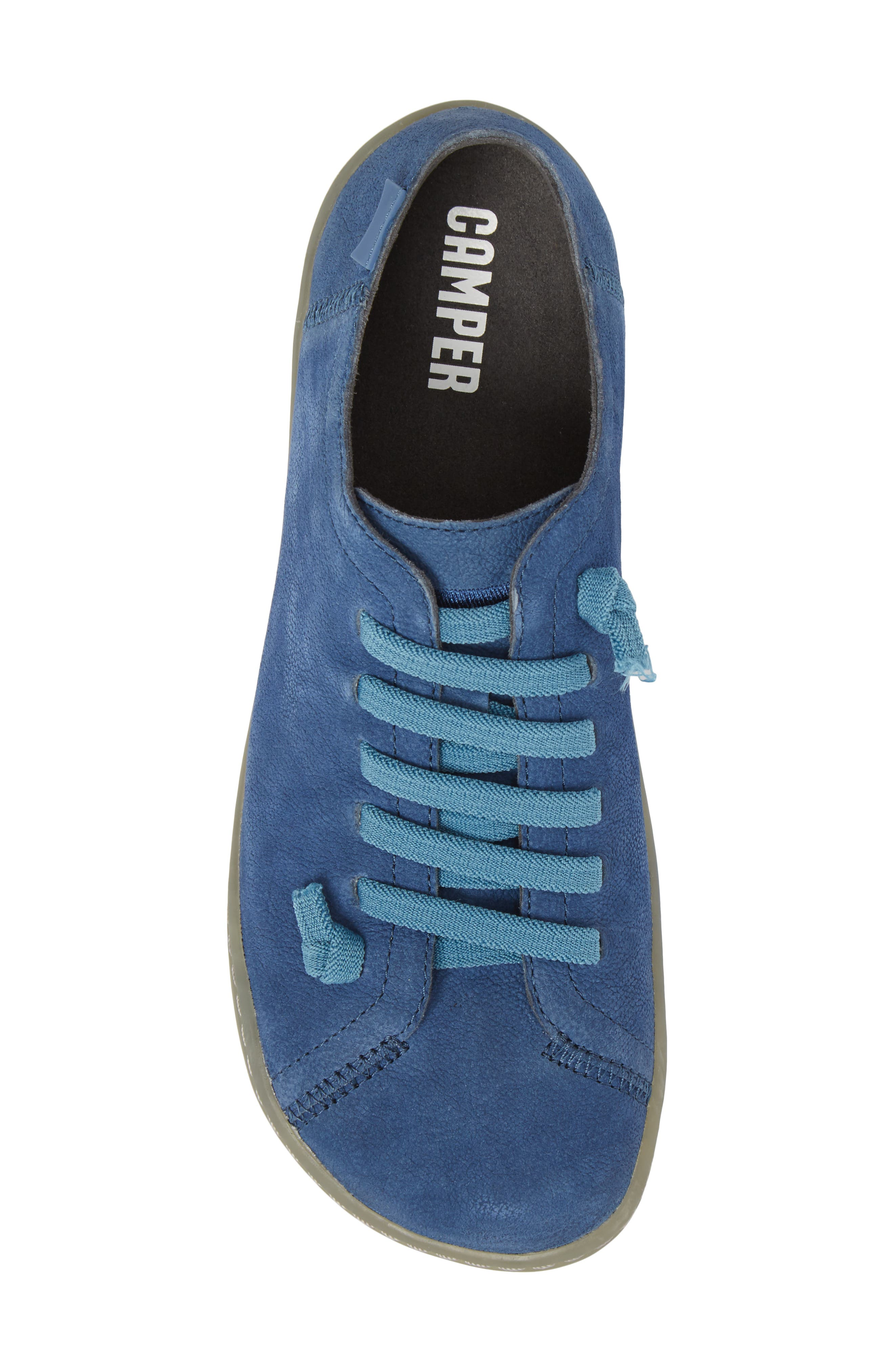 'Peu Cami' Leather Sneaker,                             Alternate thumbnail 5, color,                             Medium Blue Suede