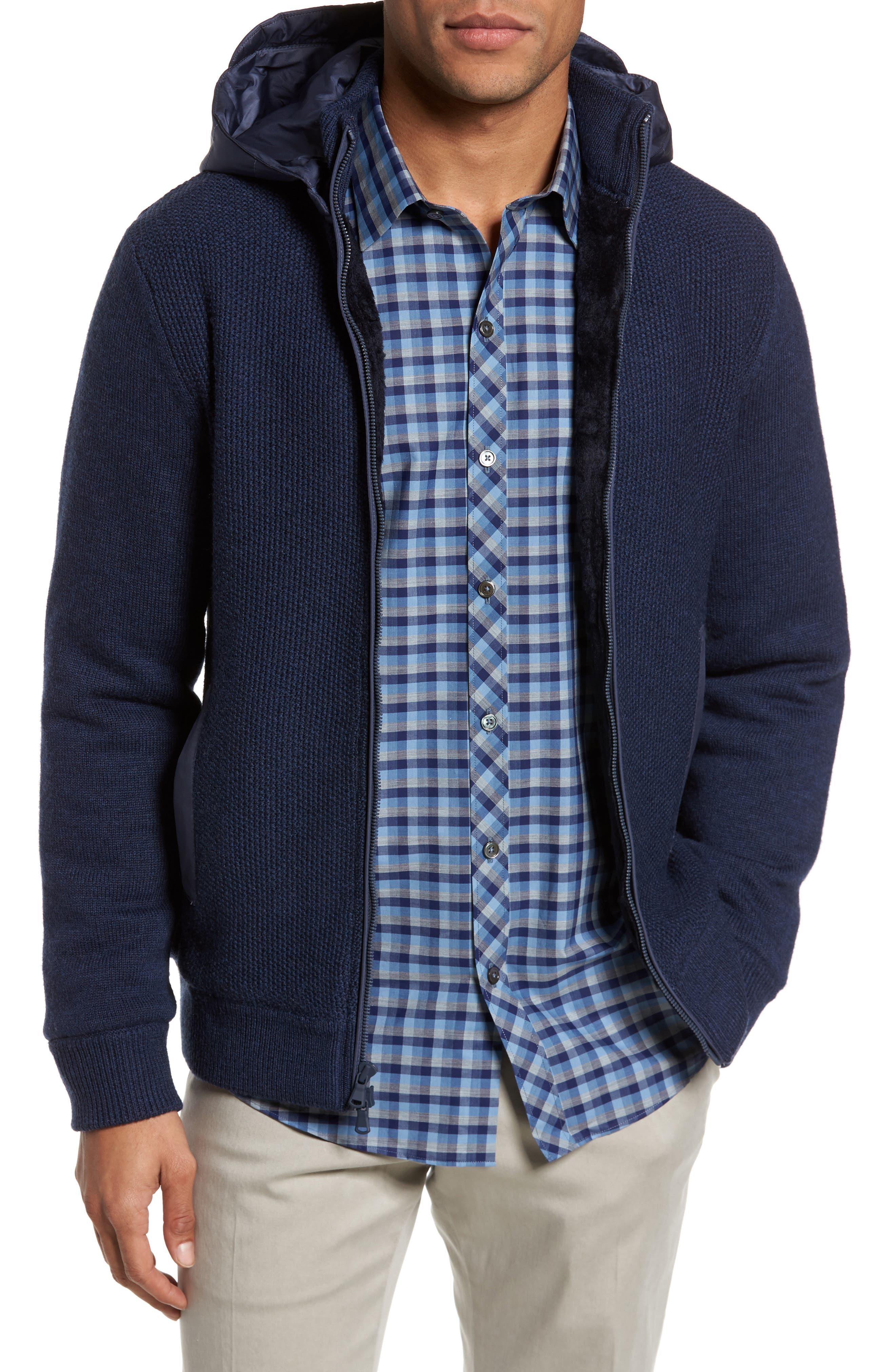 Haydon Merino Wool Sweater Jacket,                         Main,                         color, Navy