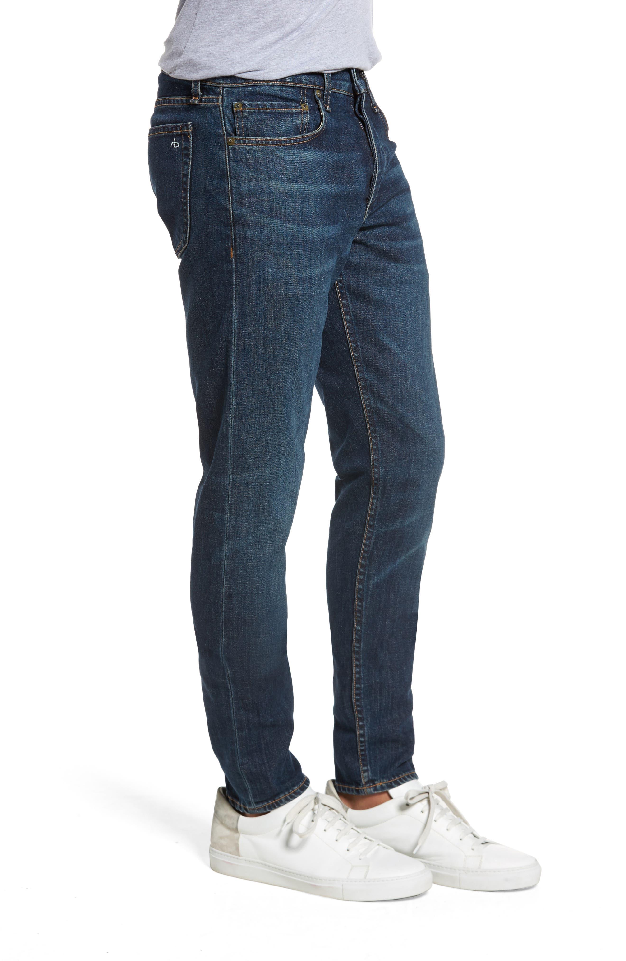 Fit 1 Skinny Fit Jeans,                             Alternate thumbnail 3, color,                             Linden