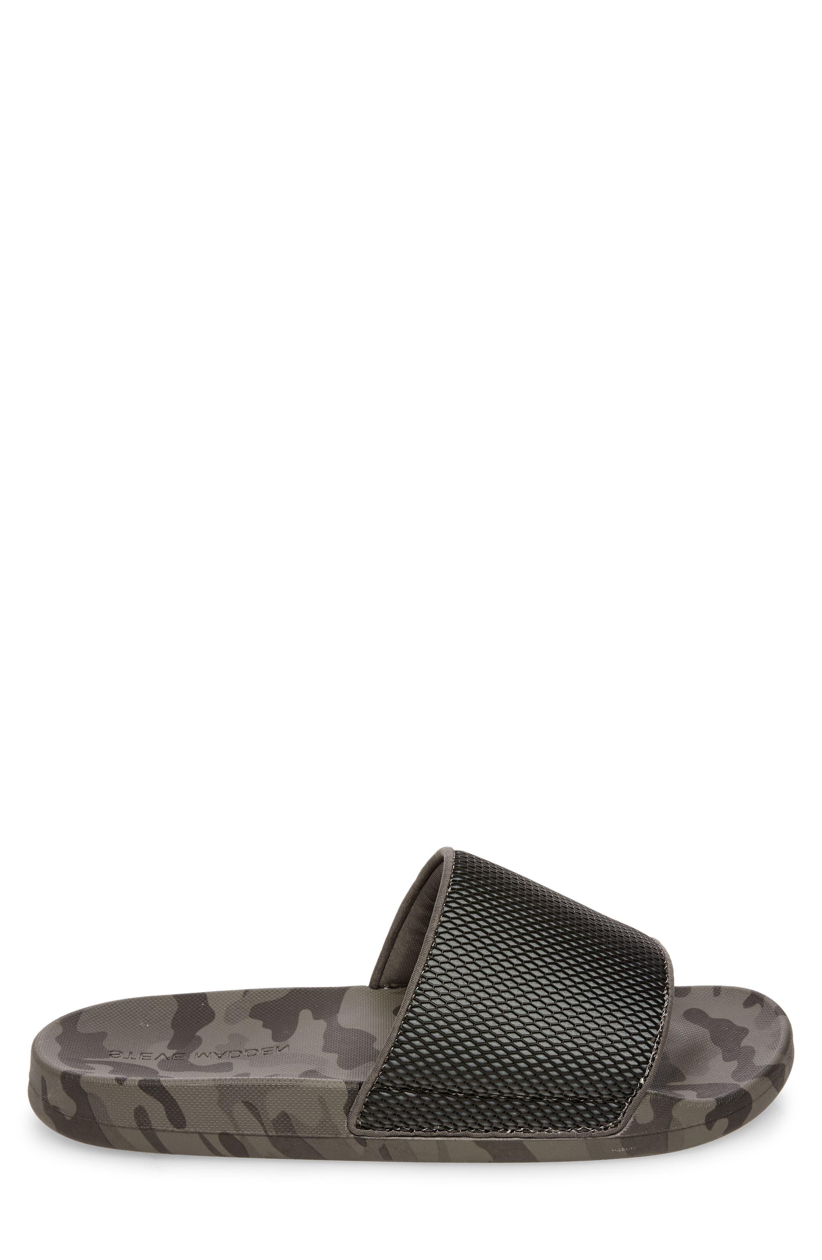 Seabees Textured Slide Sandal,                             Alternate thumbnail 3, color,                             Grey Camo