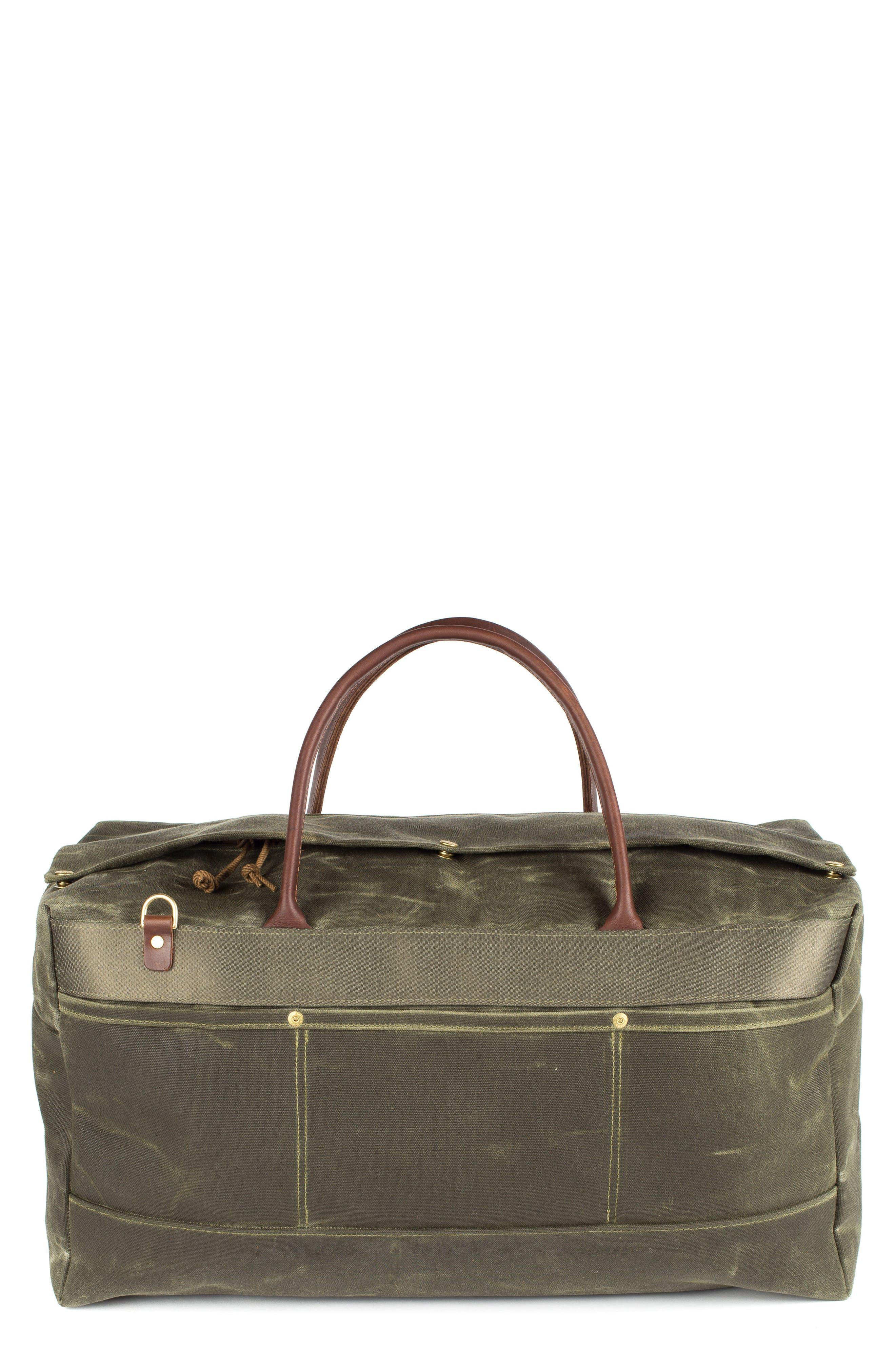 Grand Tourer Waxed Canvas Duffel Bag,                         Main,                         color, Balmoral Moss