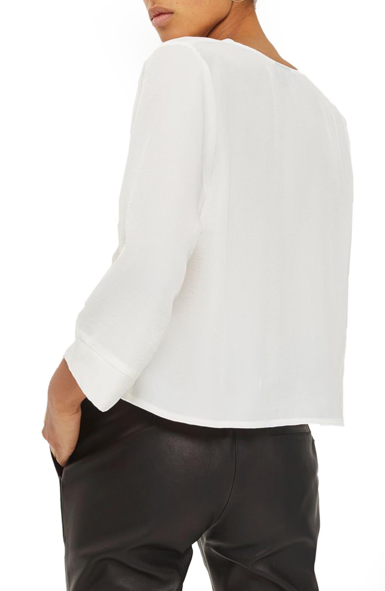 Alternate Image 2  - Topshop Tara Wrap Blouse (Petite)