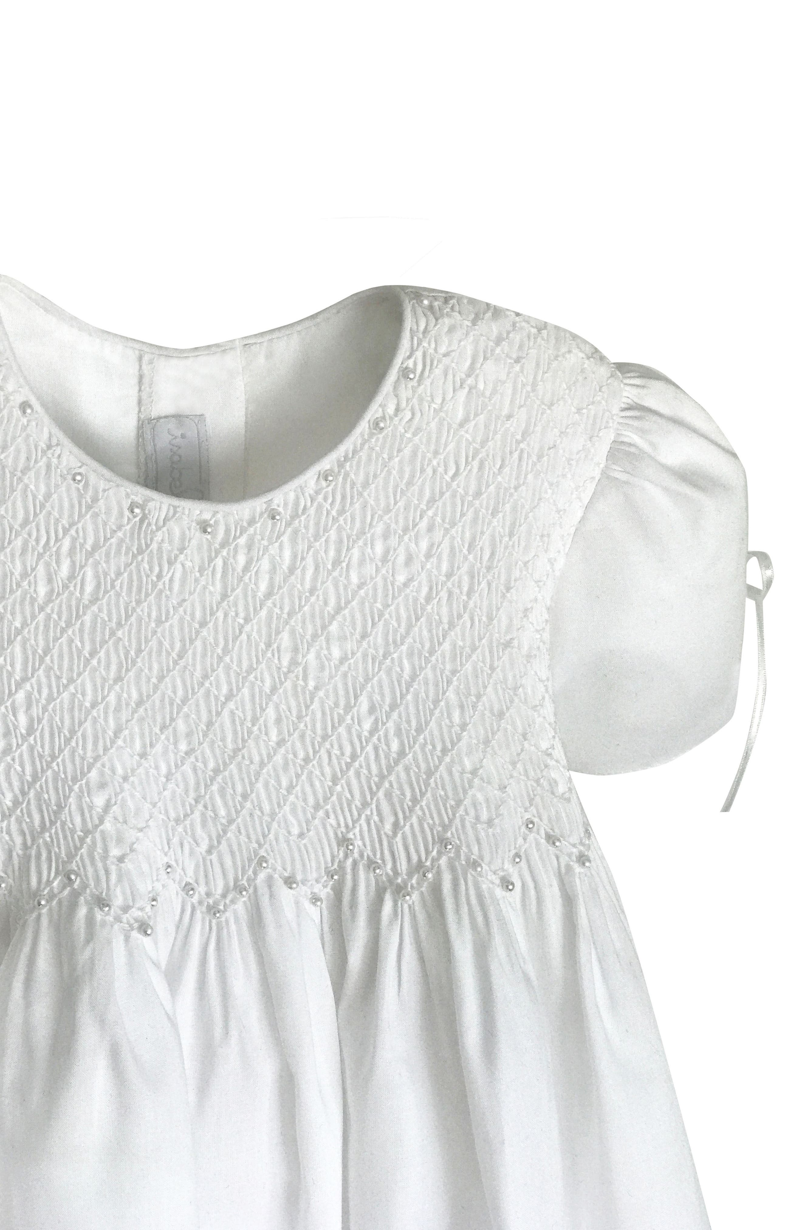 Alternate Image 4  - Isabel Garreton 'Pearls' Christening Gown & Bonnet (Baby)