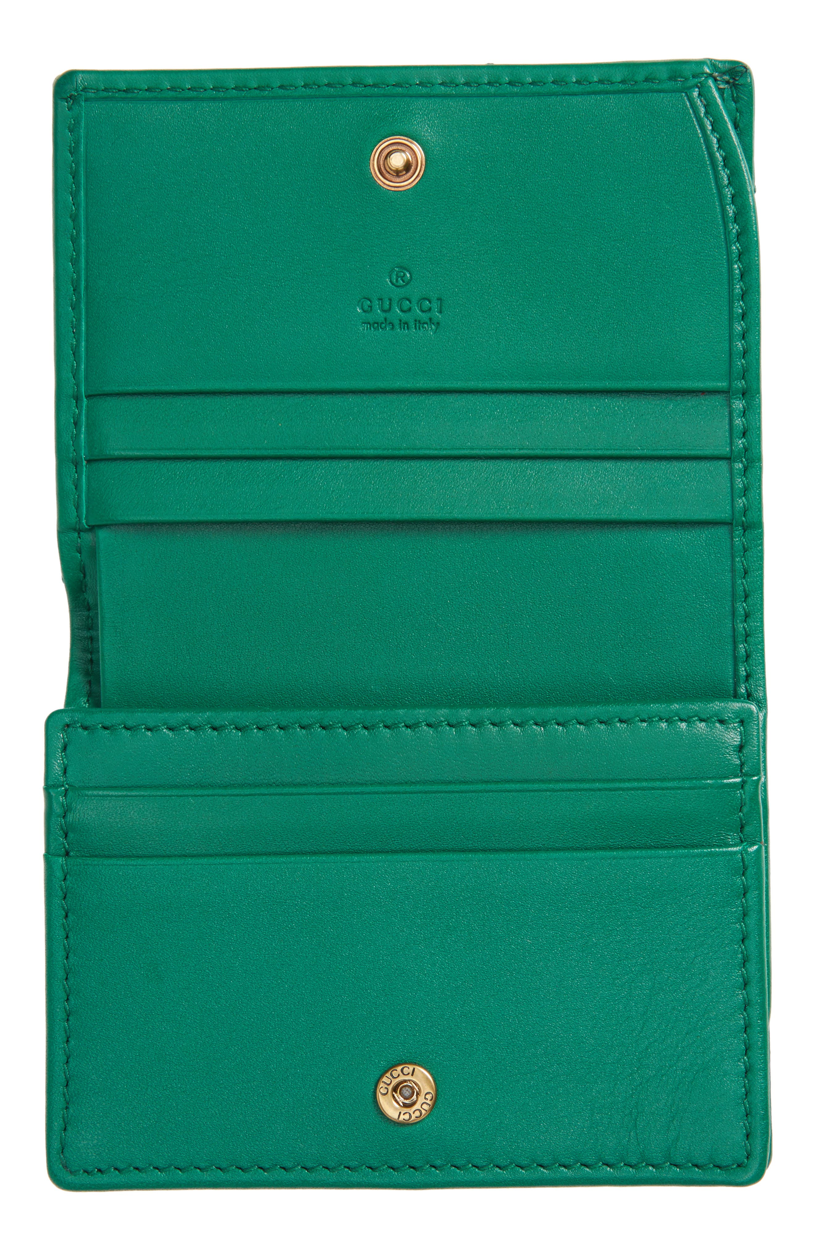 Alternate Image 2  - Gucci GG Marmont Matelassé Leather Card Case