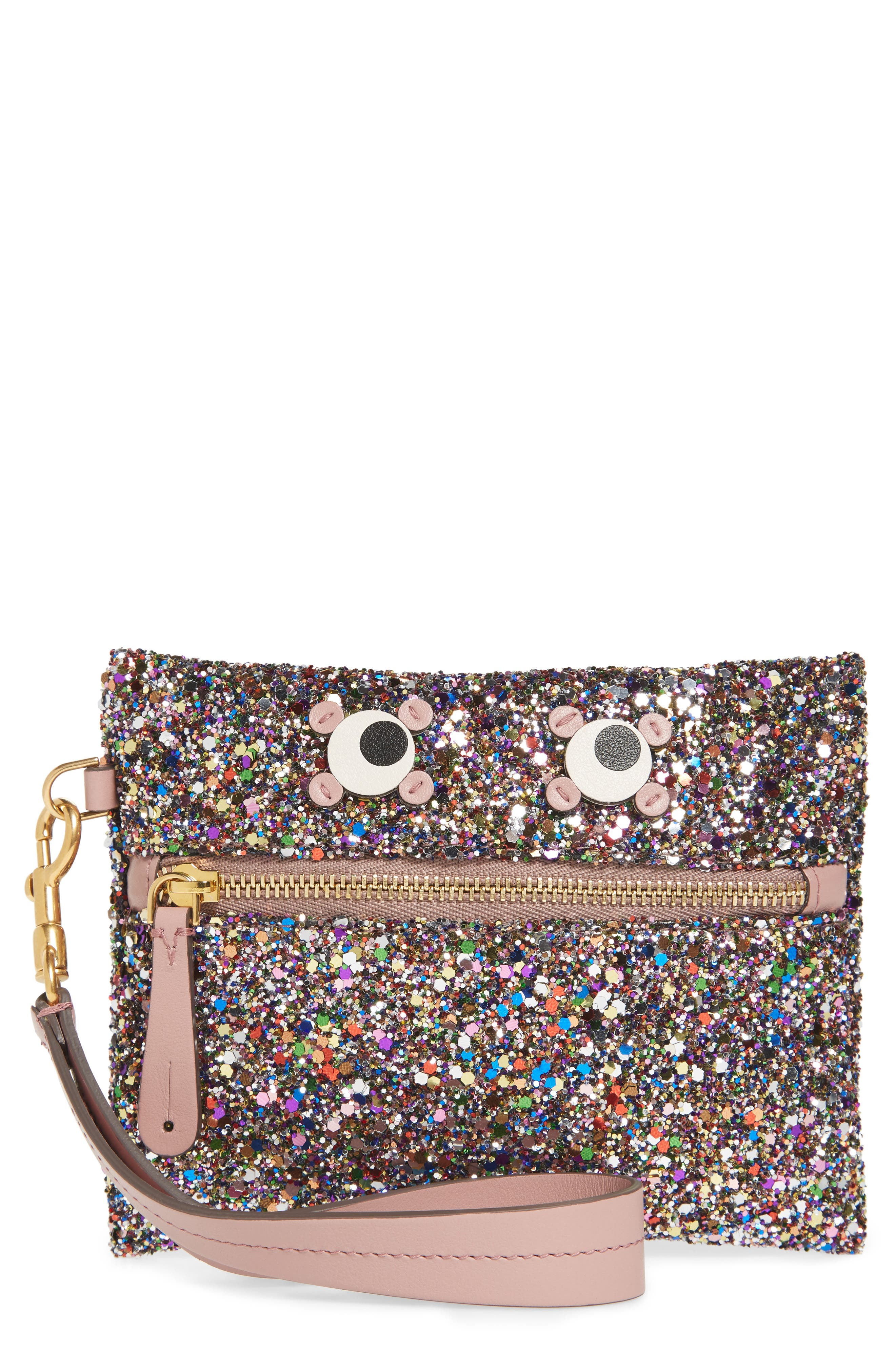 Small Circulus Eyes Zip Pouch,                             Main thumbnail 1, color,                             Multi