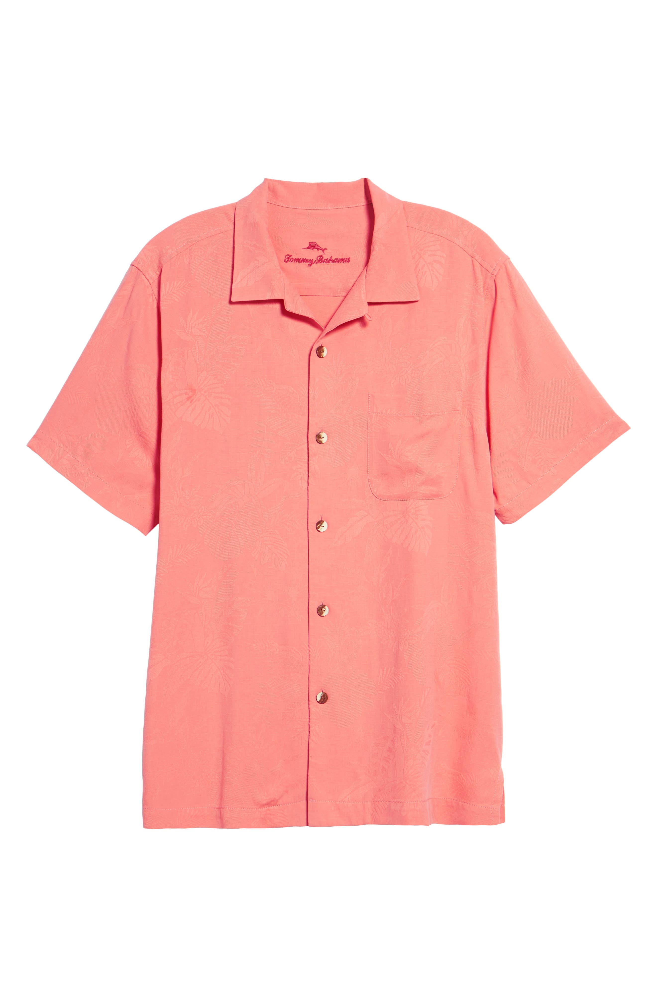 Alternate Image 6  - Tommy Bahama St Lucia Fronds Silk Camp Shirt