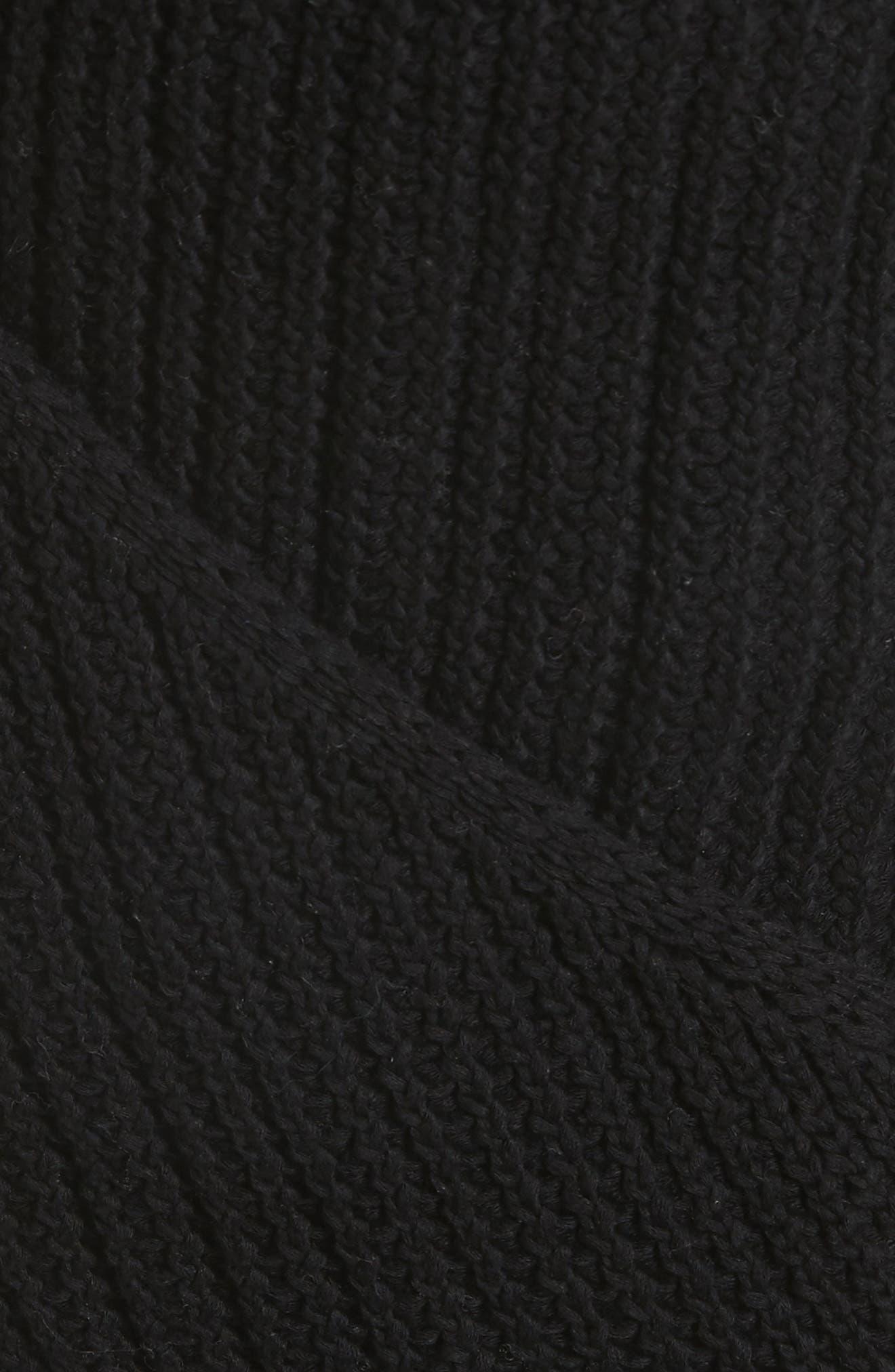Crossover Back Tank Sweater,                             Alternate thumbnail 5, color,                             Black