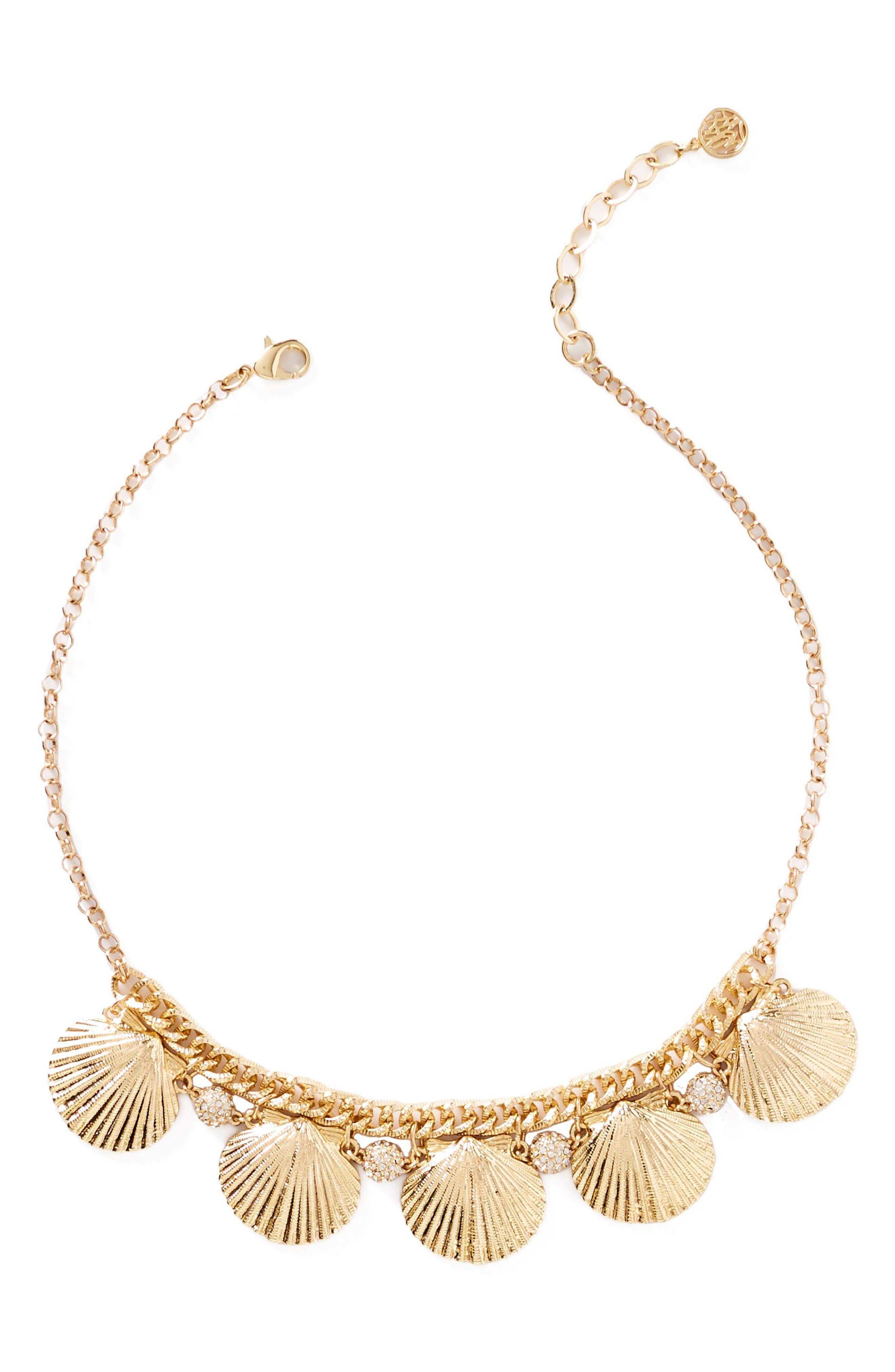 Sea Fan Necklace,                         Main,                         color, Gold Metallic
