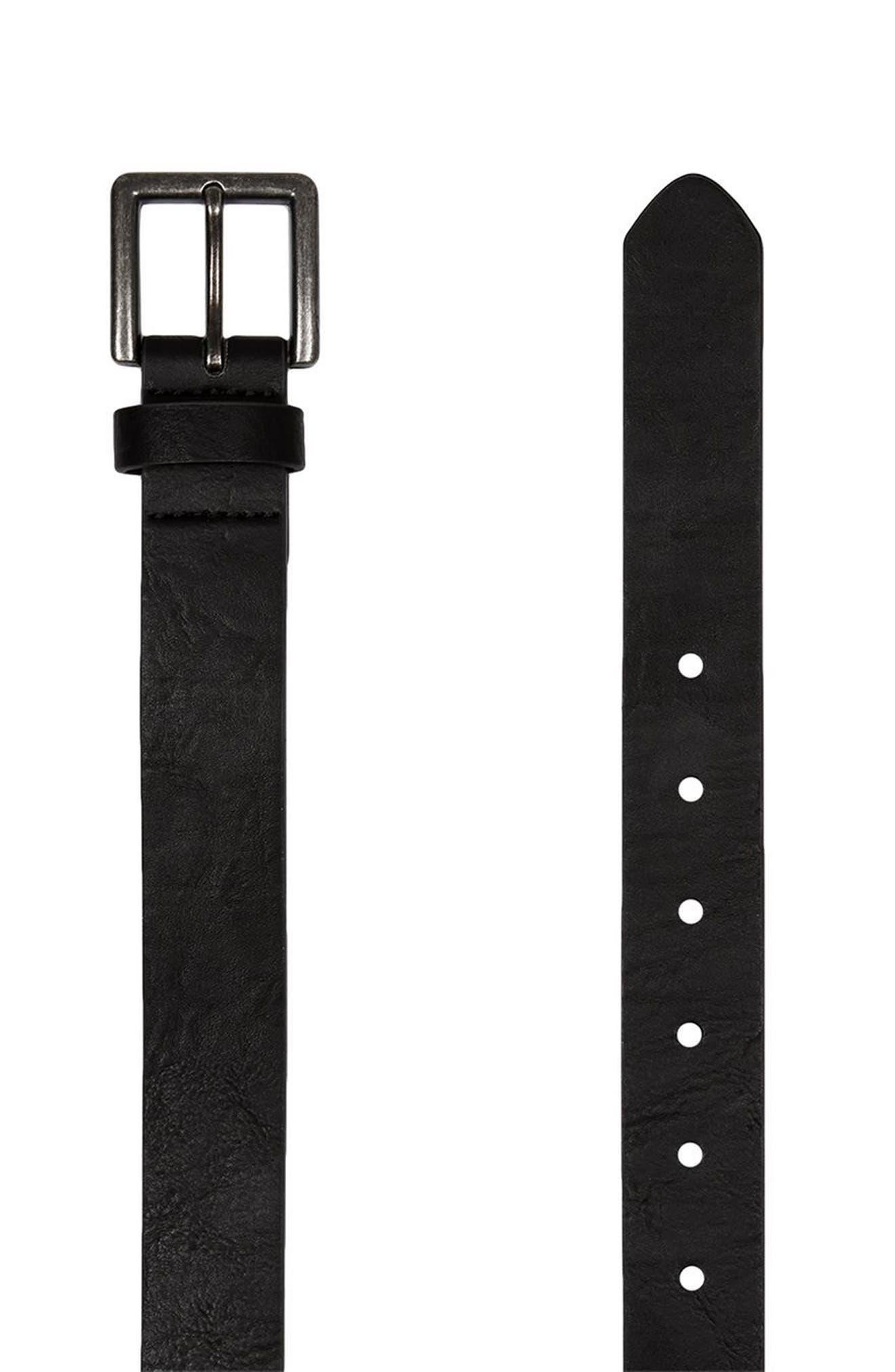 Faux Leather Belt,                         Main,                         color, Black