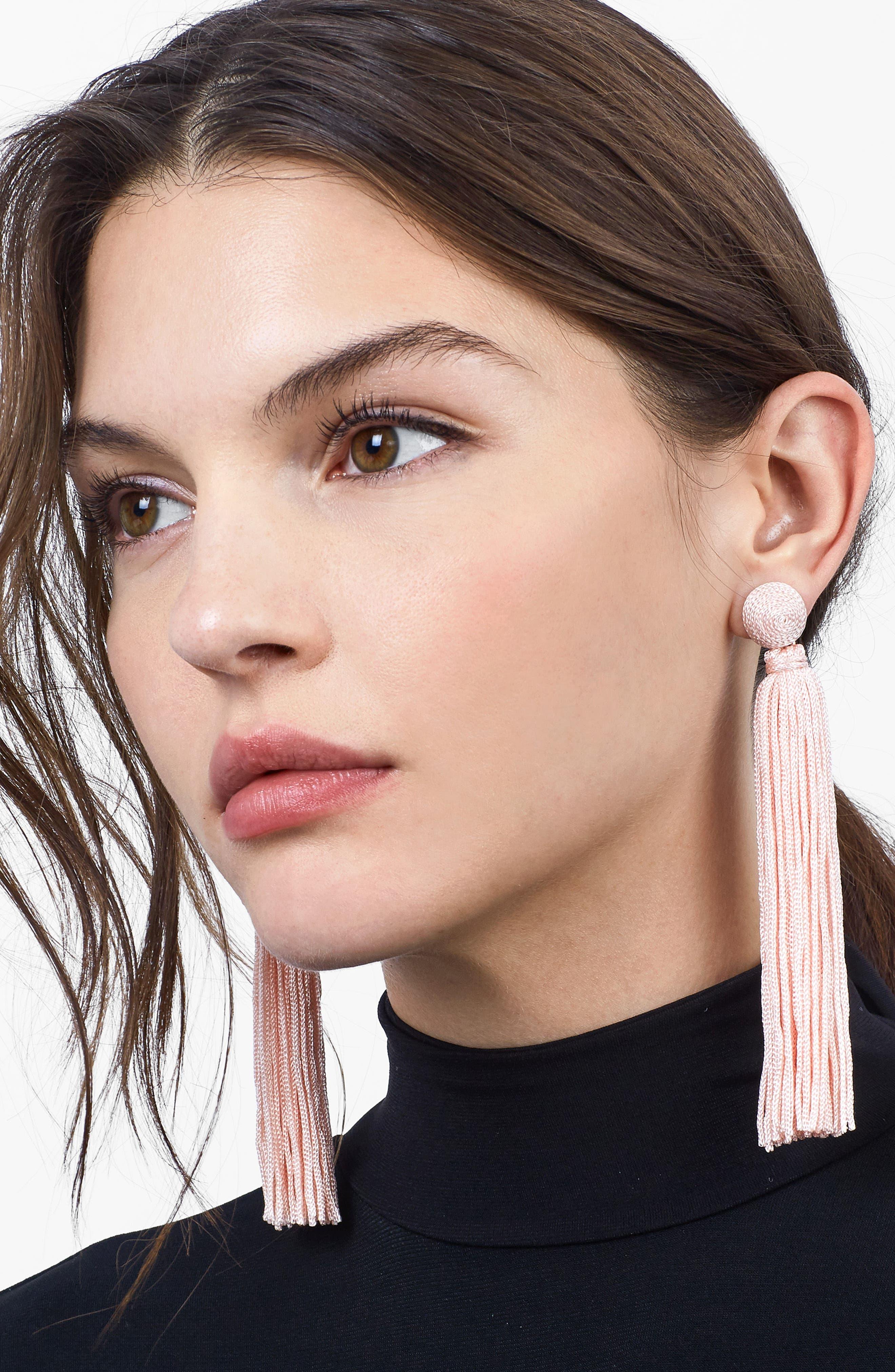 Alternate Image 2  - BaubleBar Valencia Shoulder Duster Tassel Earrings