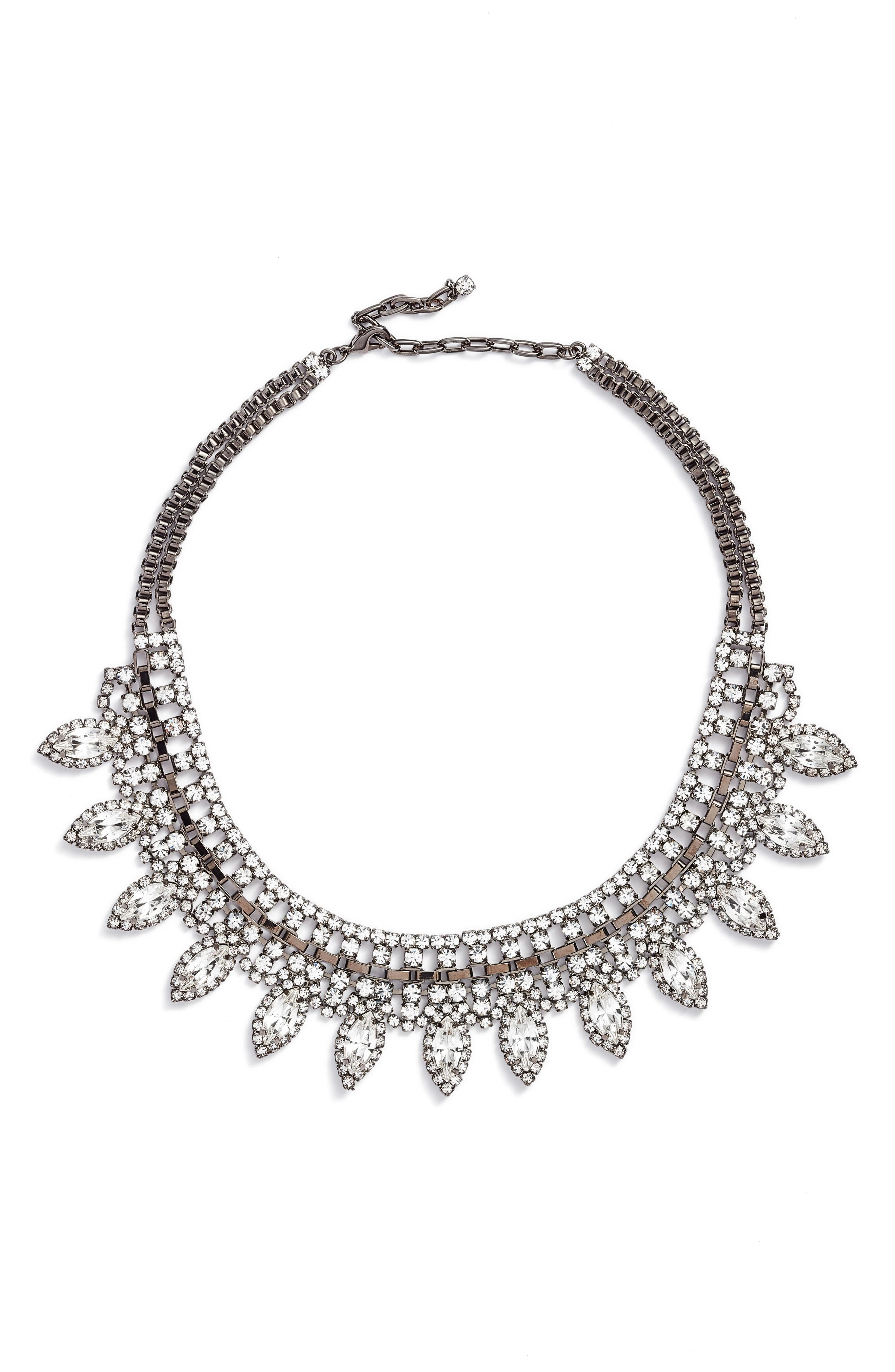 CRISTABELLE Large Navette Frontal Necklace