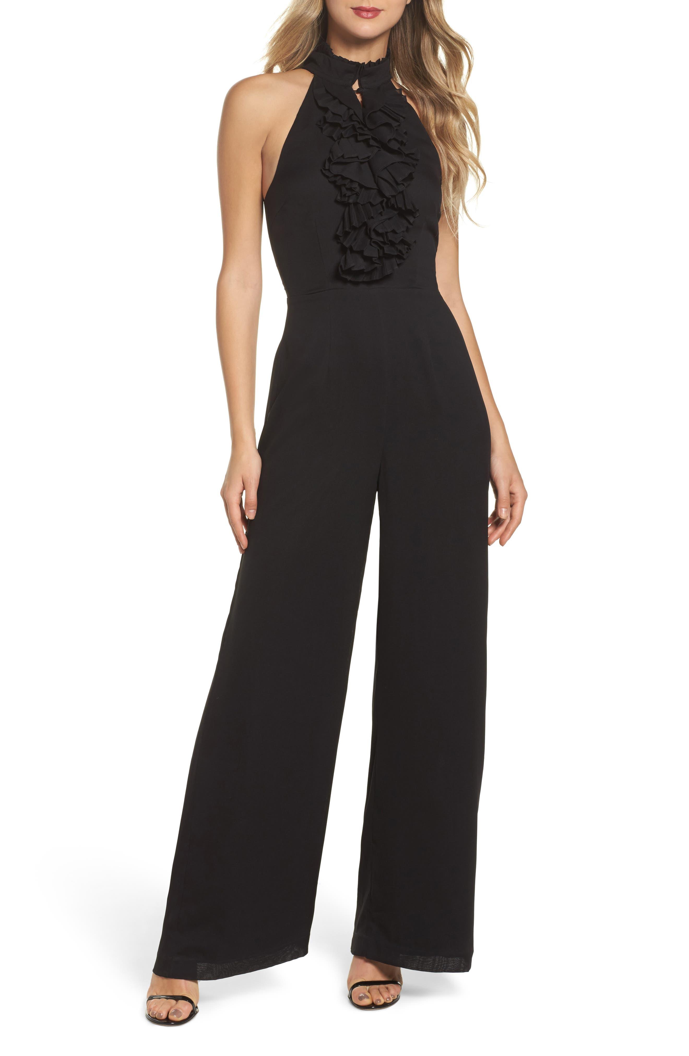 Big Picture Halter Jumpsuit,                         Main,                         color, Black