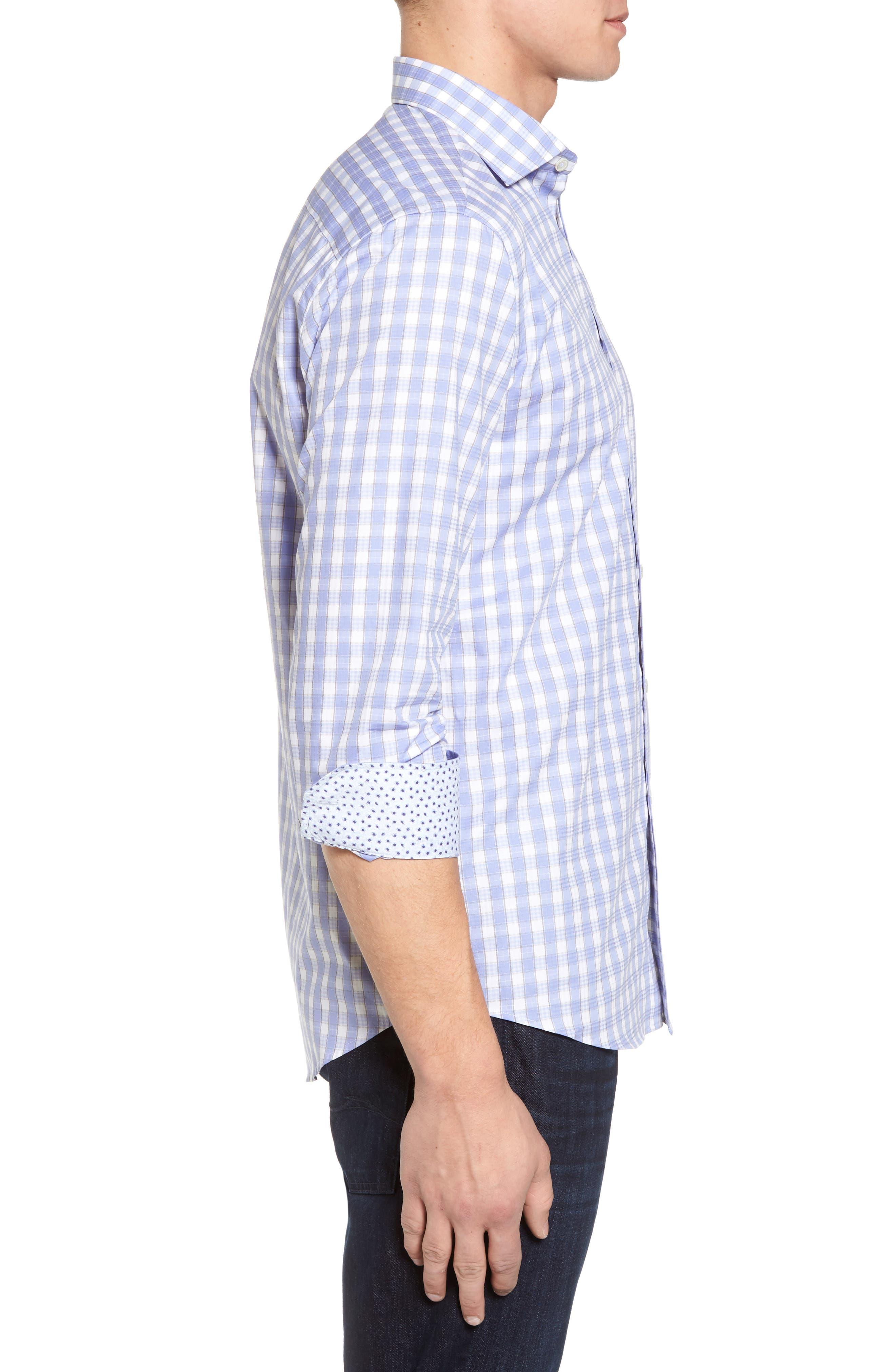 Shaped Fit Sport Shirt,                             Alternate thumbnail 3, color,                             Lavender