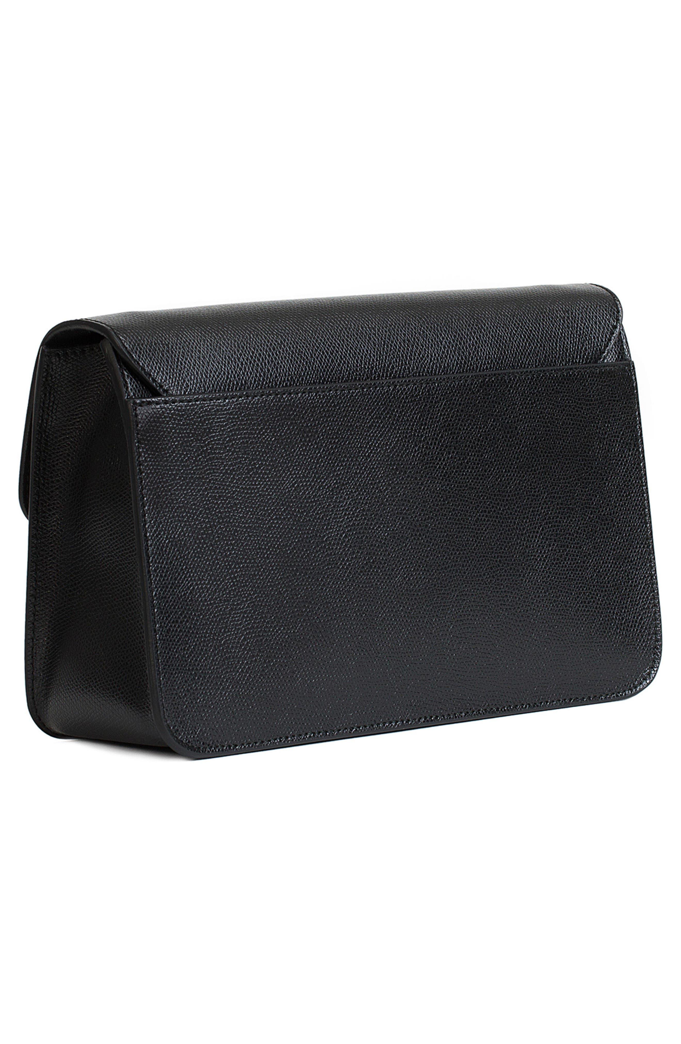 Small Metropolis Leather Crossbody Bag,                             Alternate thumbnail 2, color,                             Onyx