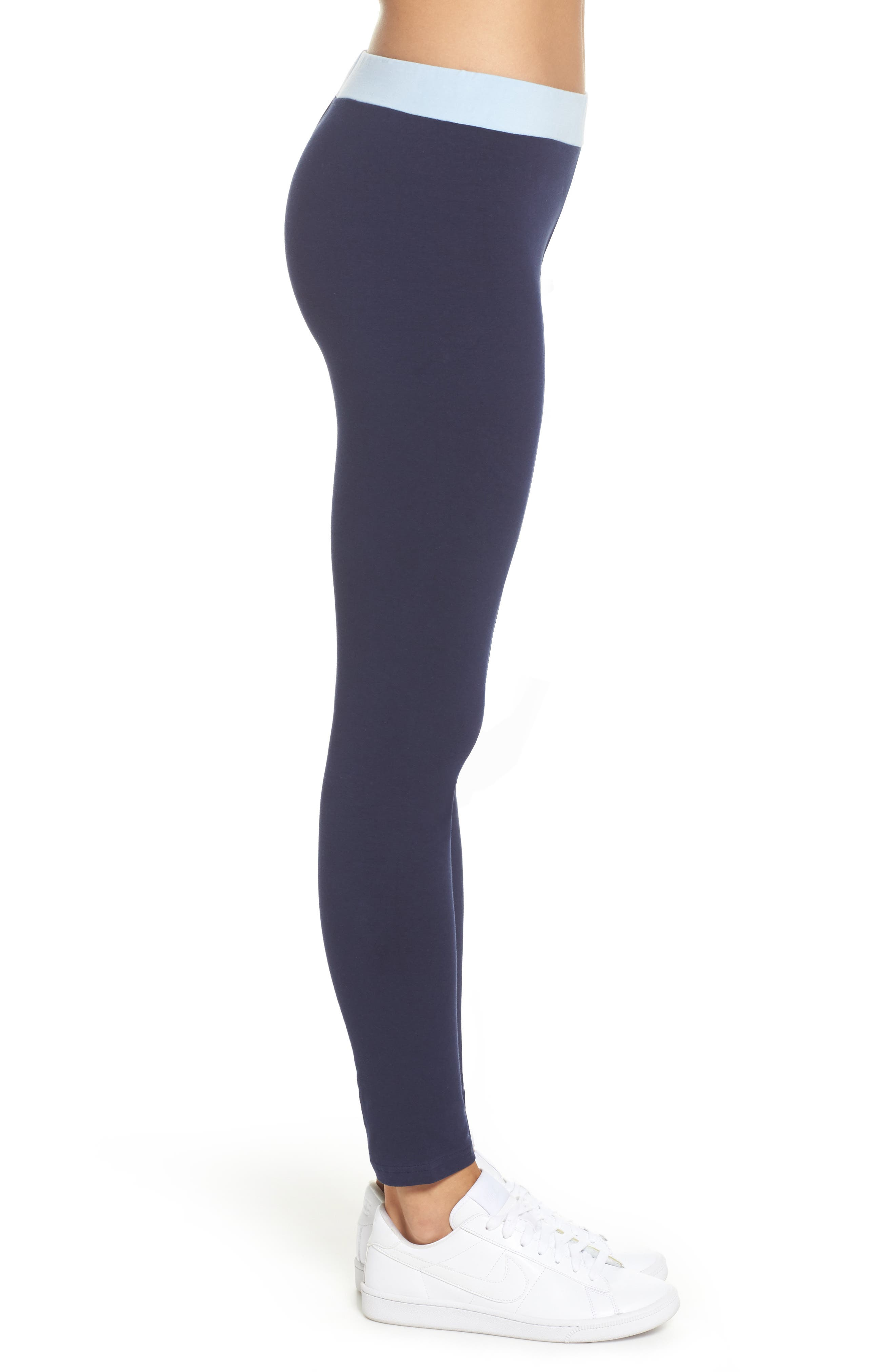 Imelda Training Tights,                             Alternate thumbnail 3, color,                             Navy/ Skyway/ Rio Red