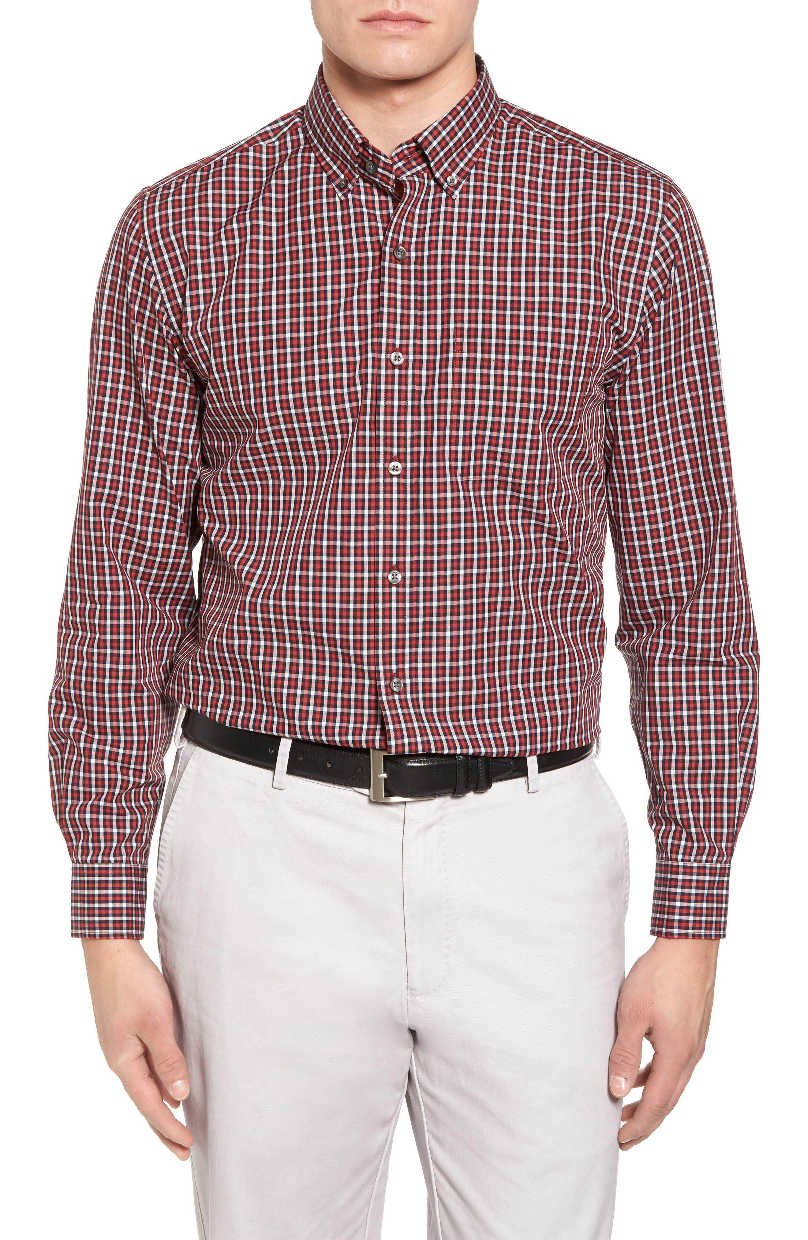Alternate Image 1 Selected - Cutter & Buck Barrett Check Easy Care Sport Shirt