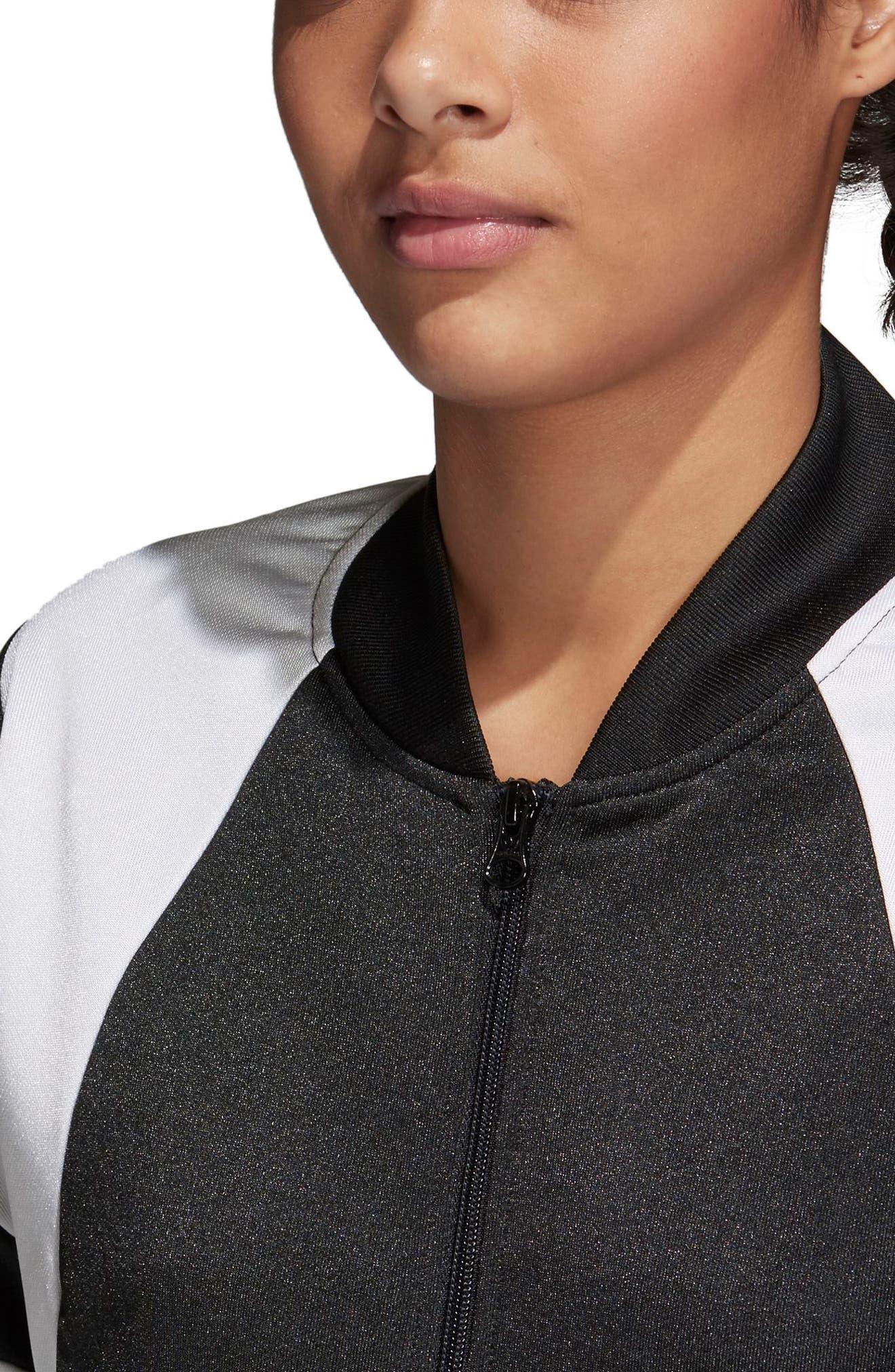Originals Superstar Track Jacket,                             Alternate thumbnail 3, color,                             Black/ White