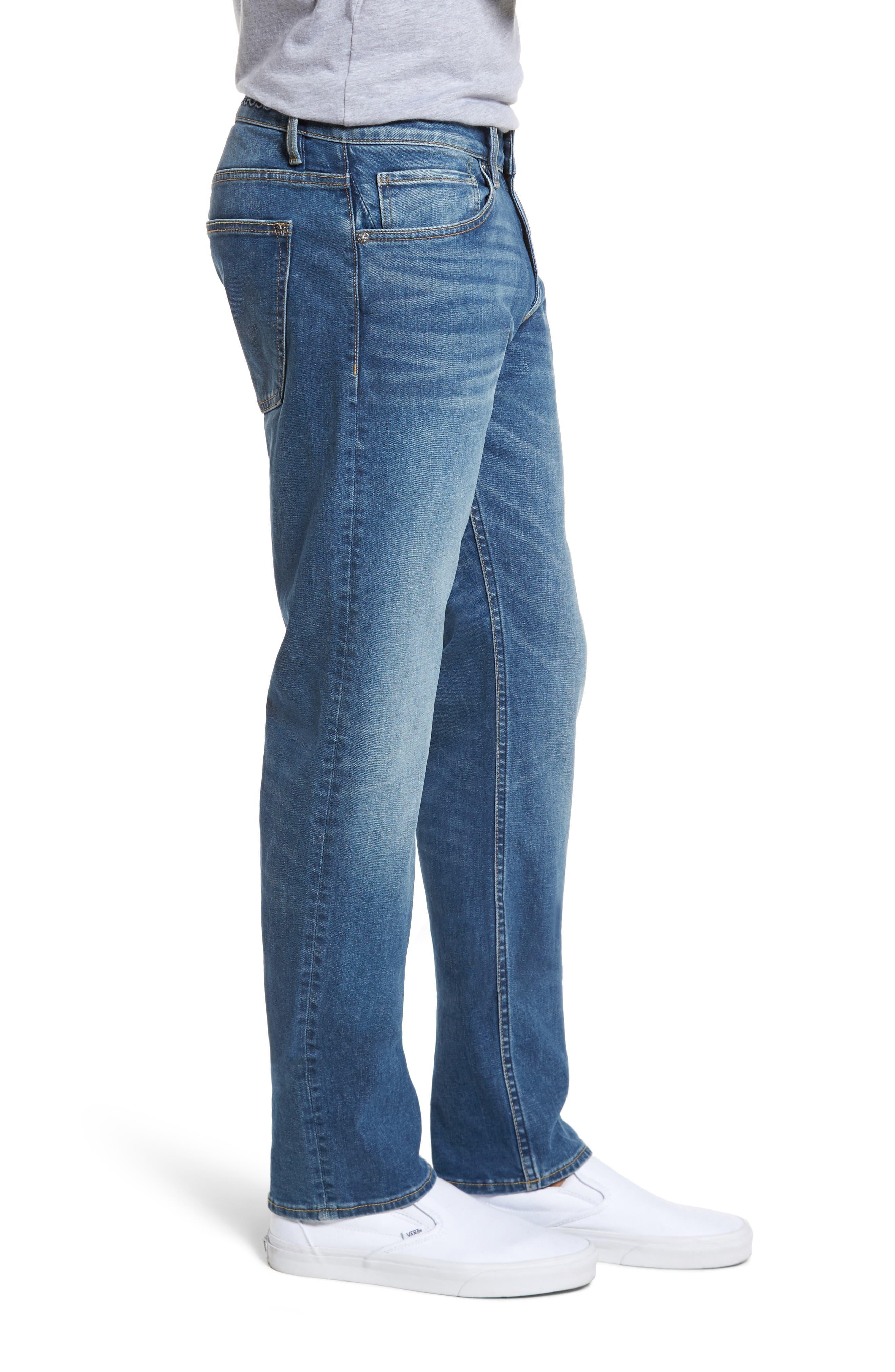 Slim Straight Leg Jeans,                             Alternate thumbnail 3, color,                             Light Wash