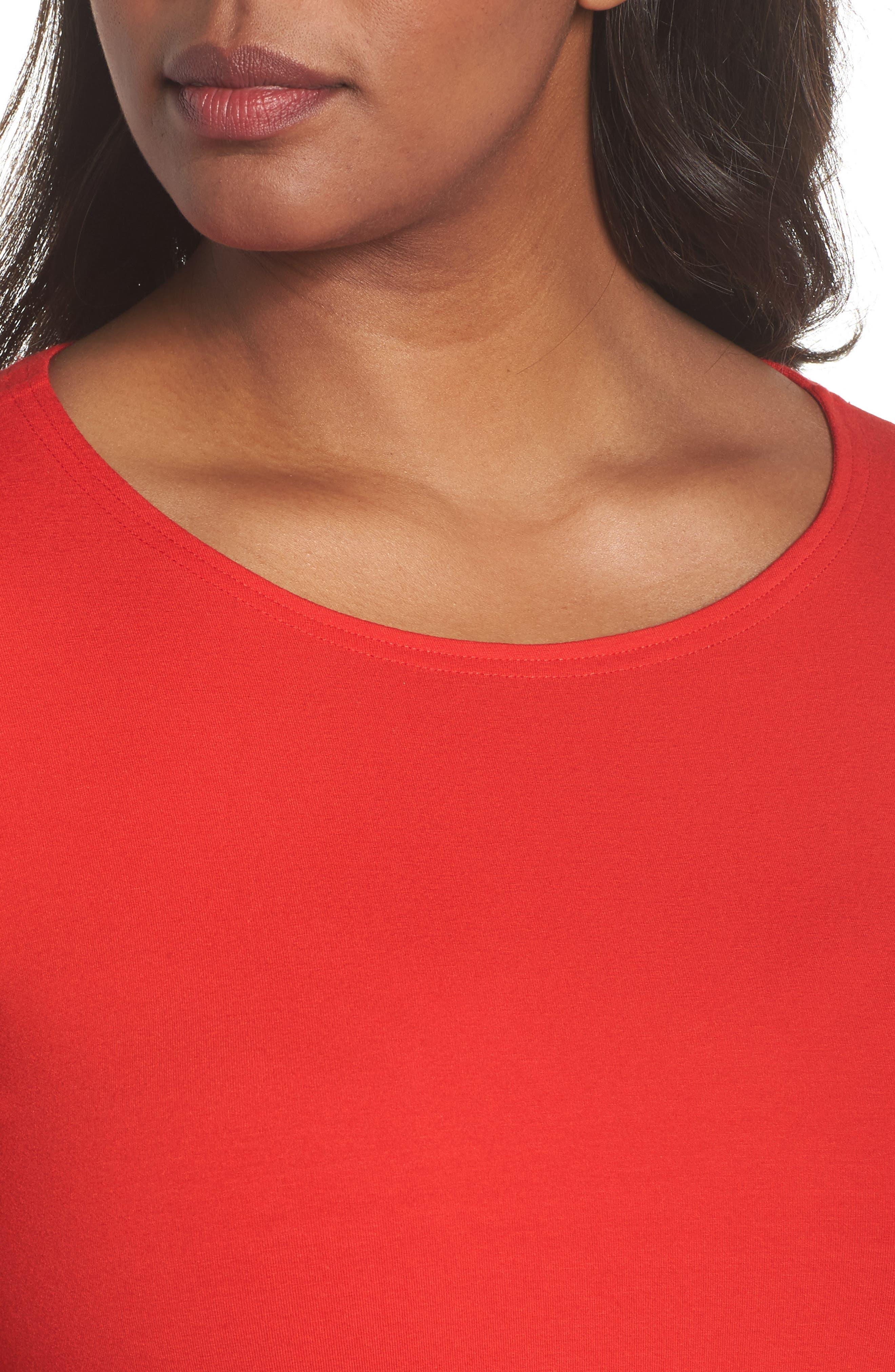 Alternate Image 4  - Eileen Fisher Jersey Ballet Neck Top (Plus Size)