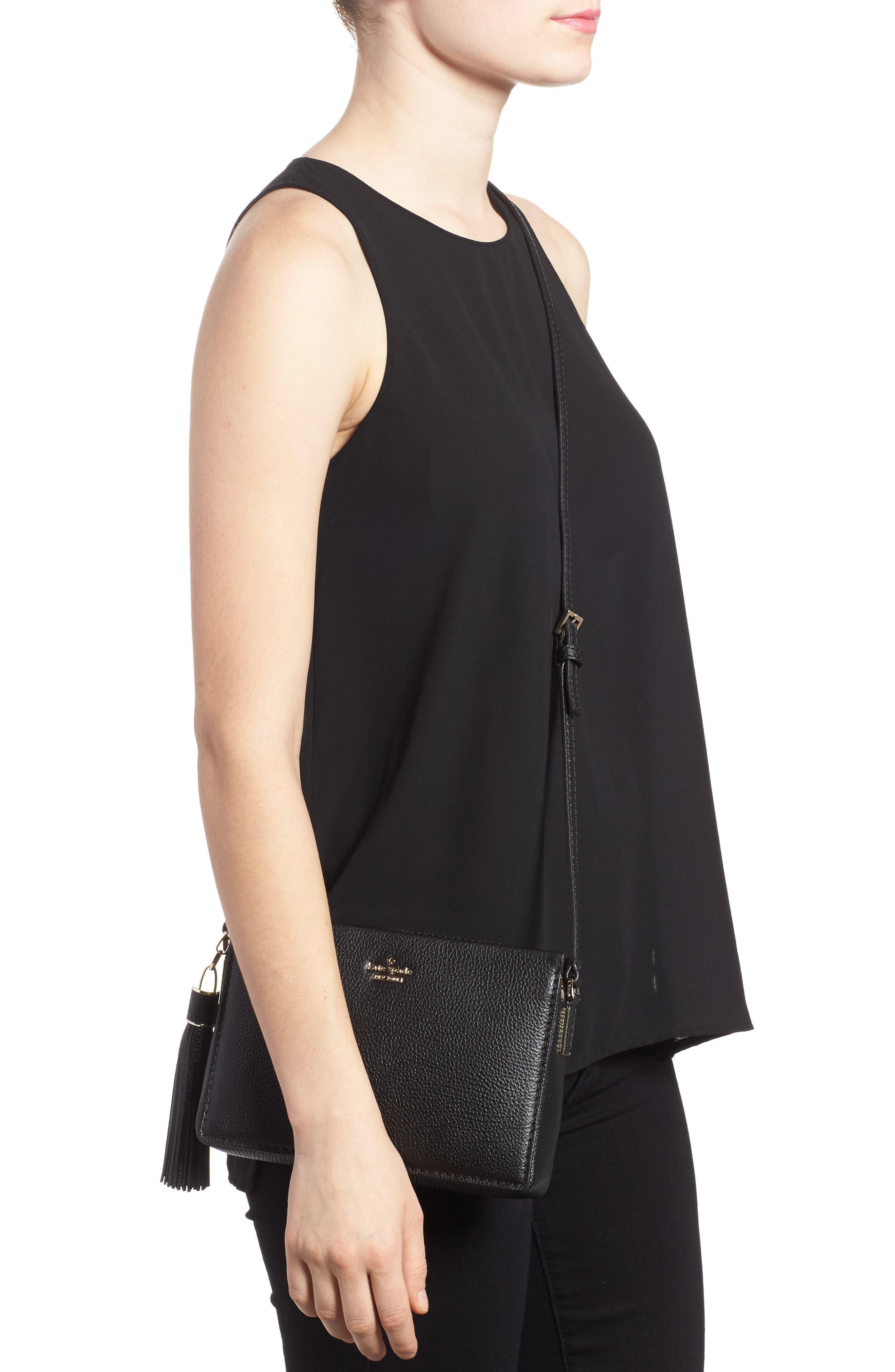 kingston drive - gillian leather crossbody bag,                             Alternate thumbnail 2, color,                             Black